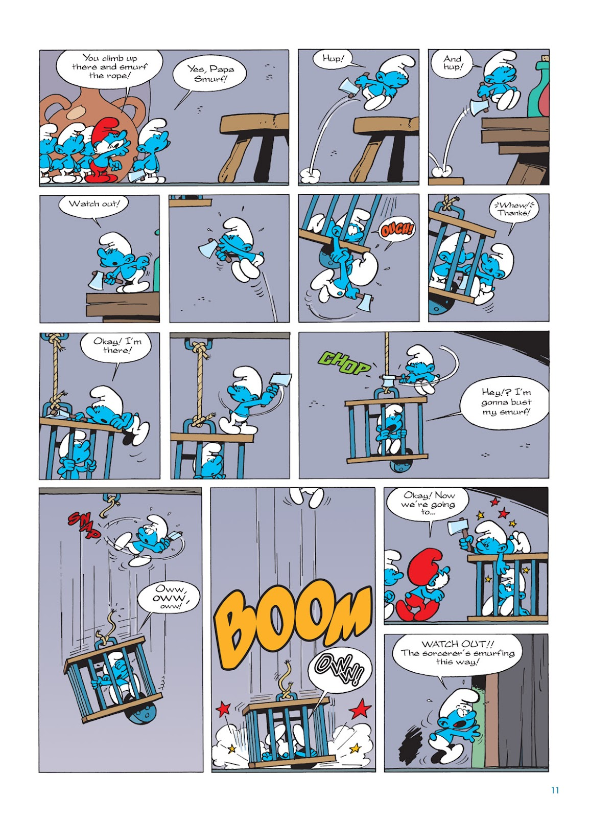 Read online The Smurfs comic -  Issue #9 - 11