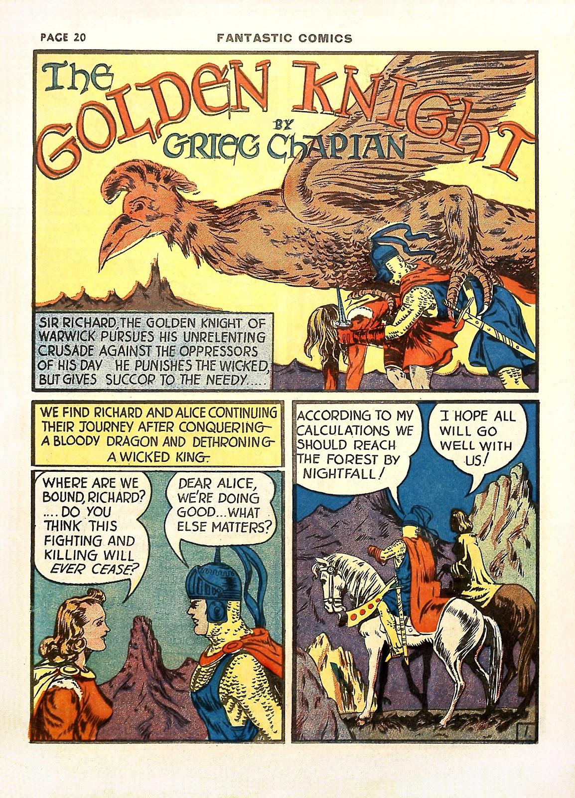 Read online Fantastic Comics comic -  Issue #11 - 23