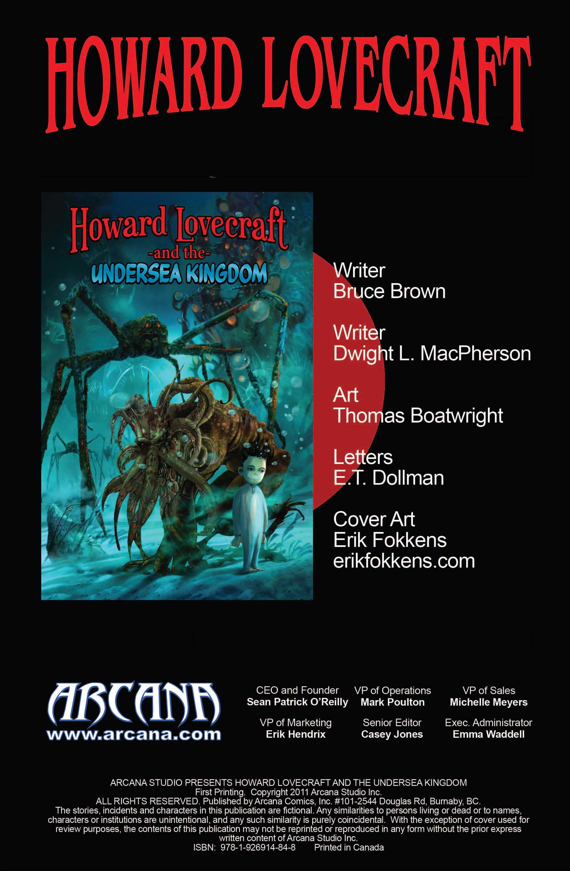 Arcana Studio Presents Howard Lovecraft and the Undersea Kingdom 1 Page 2