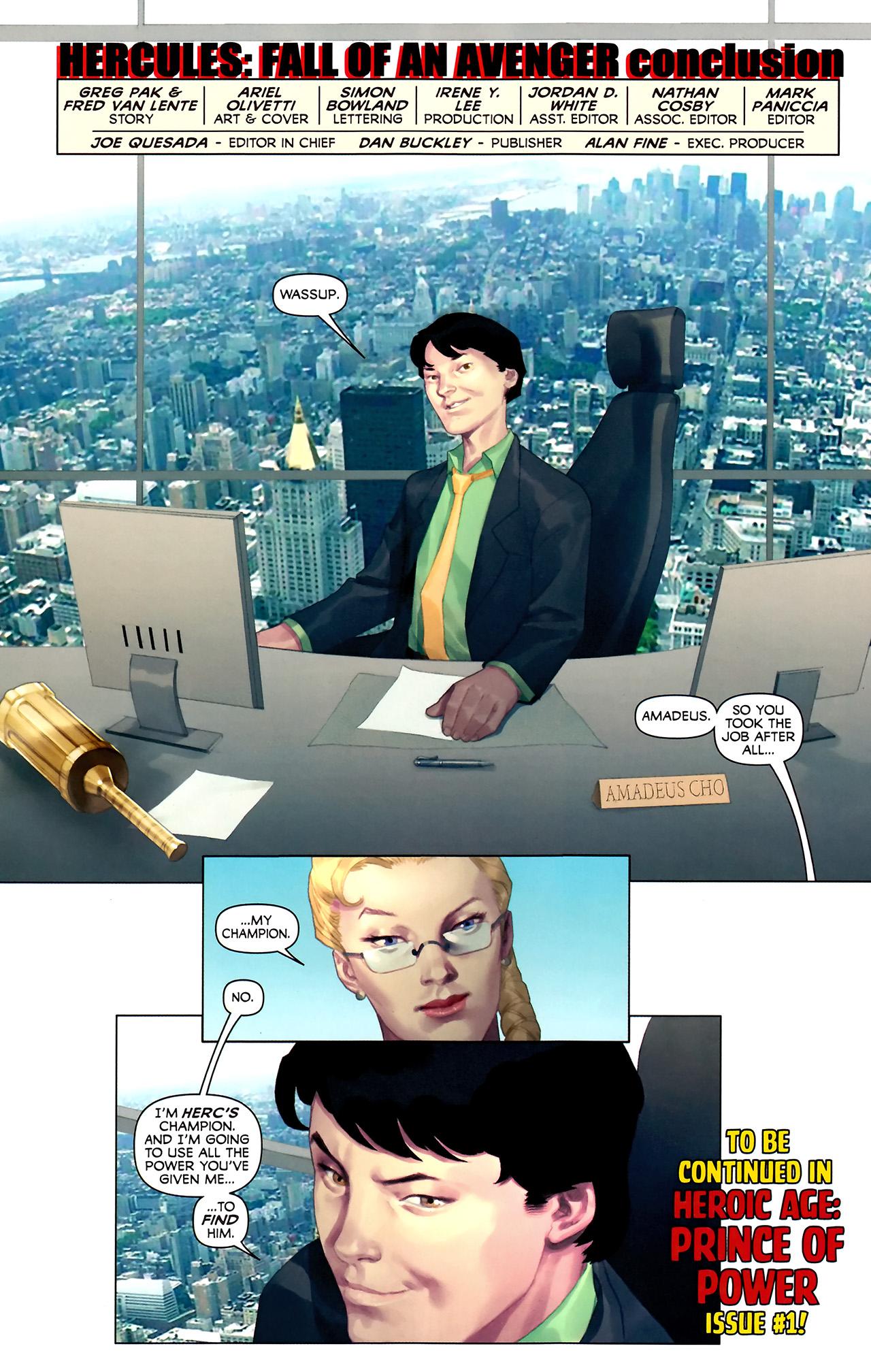 Read online Hercules: Fall of an Avenger comic -  Issue #2 - 23