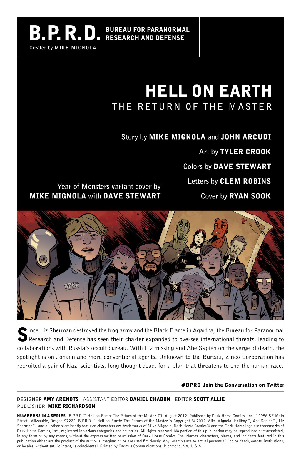 Read online B.P.R.D. Hell on Earth: The Return of the Master comic -  Issue #1 - 2