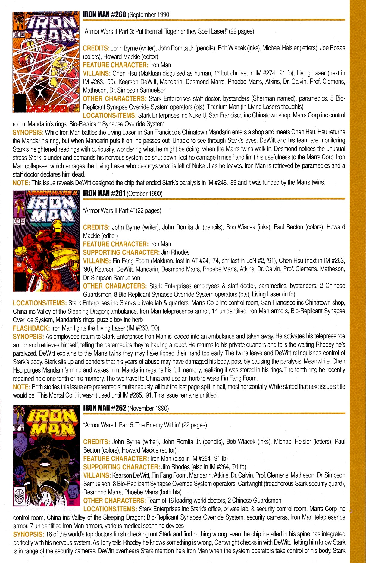Read online Official Index to the Marvel Universe comic -  Issue #8 - 25