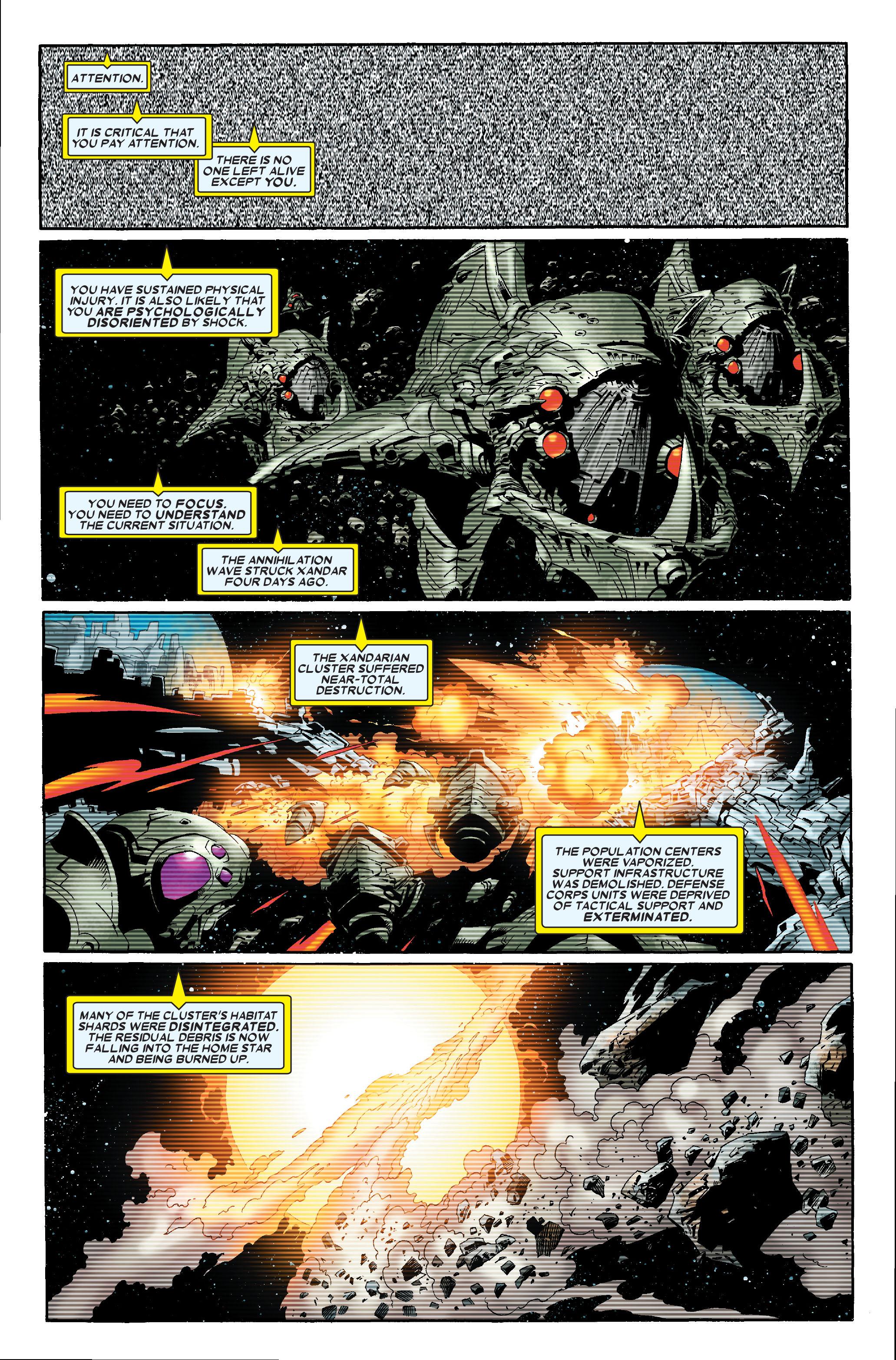 Read online Annihilation: Nova comic -  Issue #1 - 2