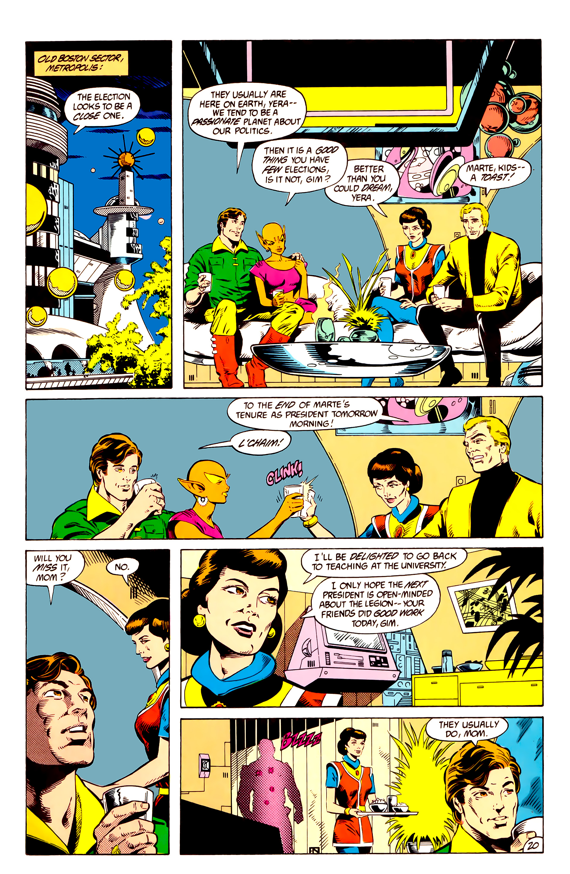 Legion of Super-Heroes (1984) 10 Page 21