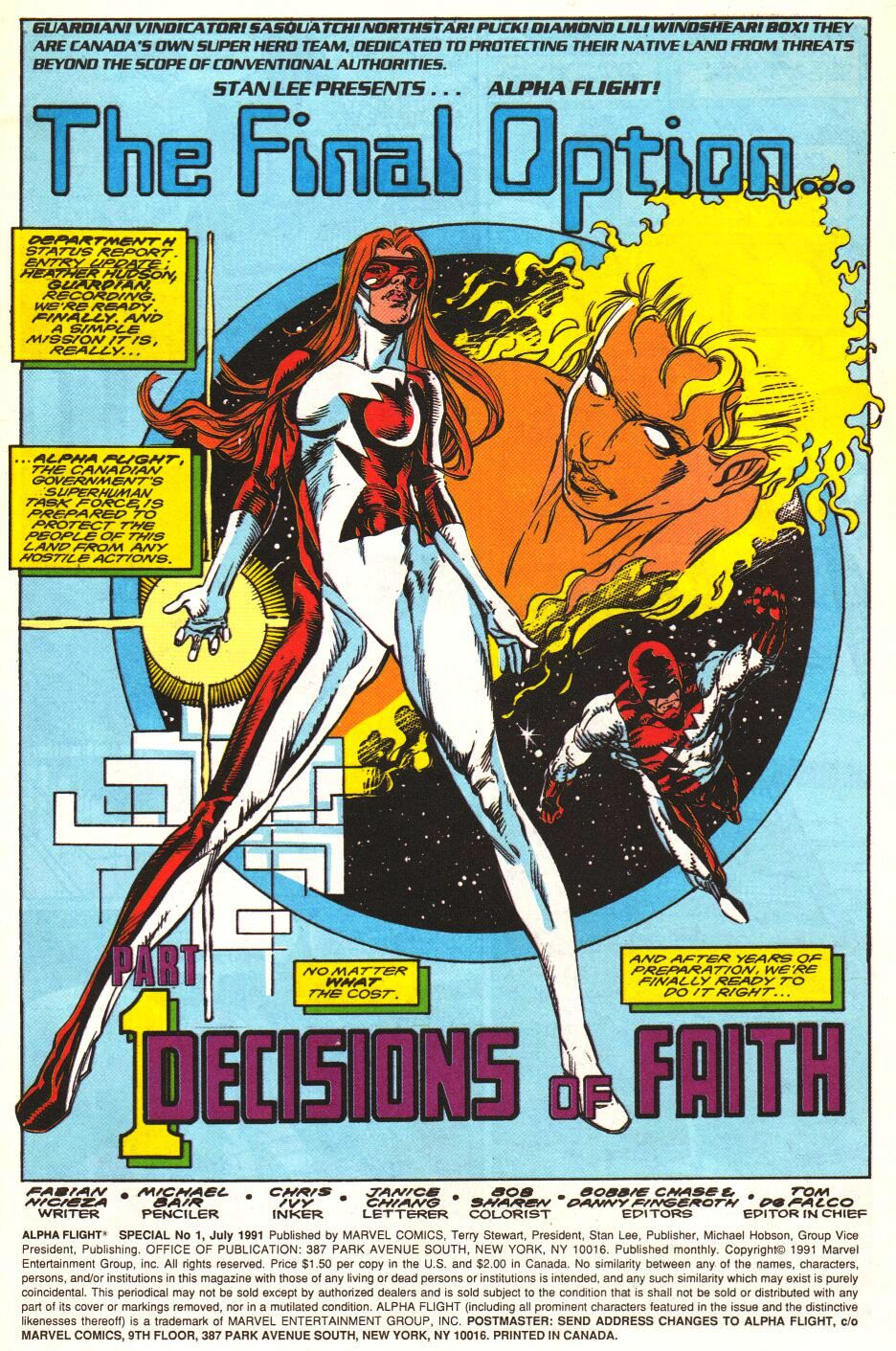 Read online Alpha Flight Special comic -  Issue #1 - 2