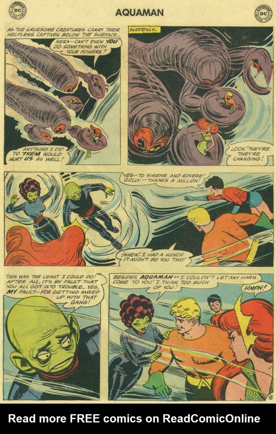 Read online Aquaman (1962) comic -  Issue #16 - 26