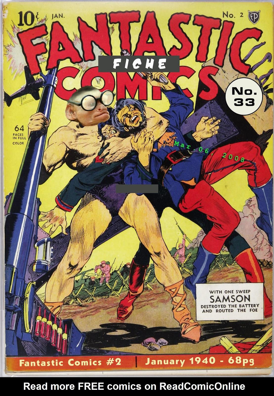 Read online Fantastic Comics comic -  Issue #2 - 1