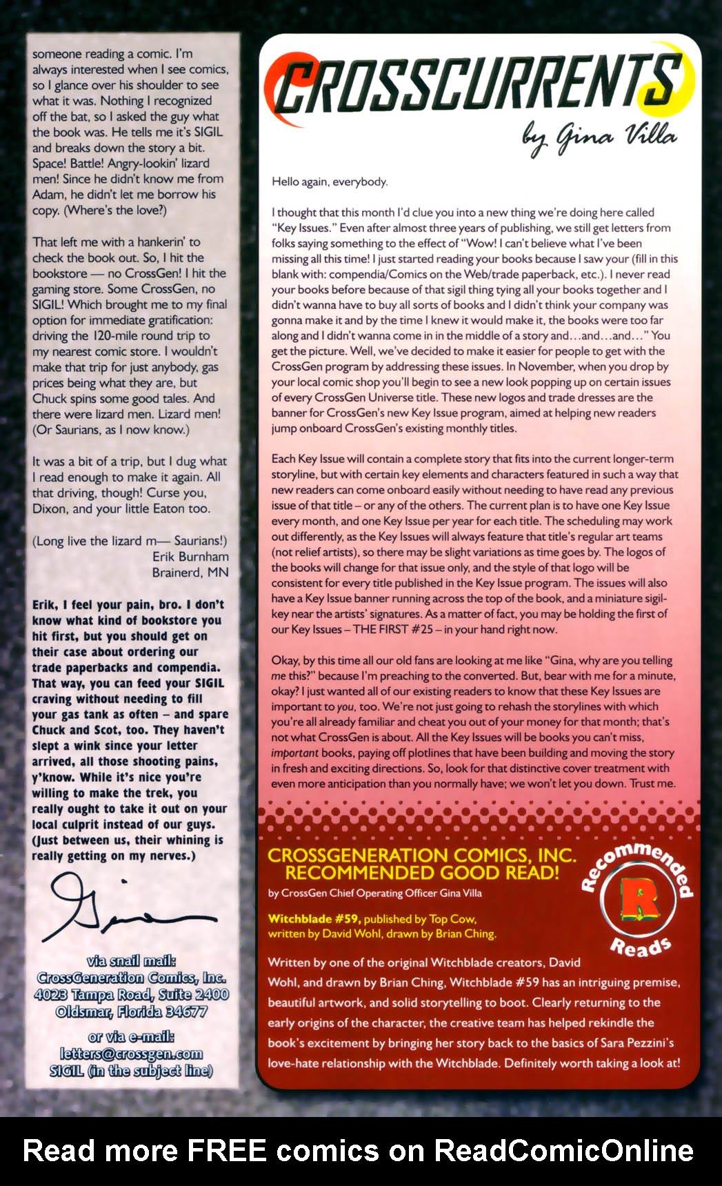Read online Sigil (2000) comic -  Issue #30 - 29