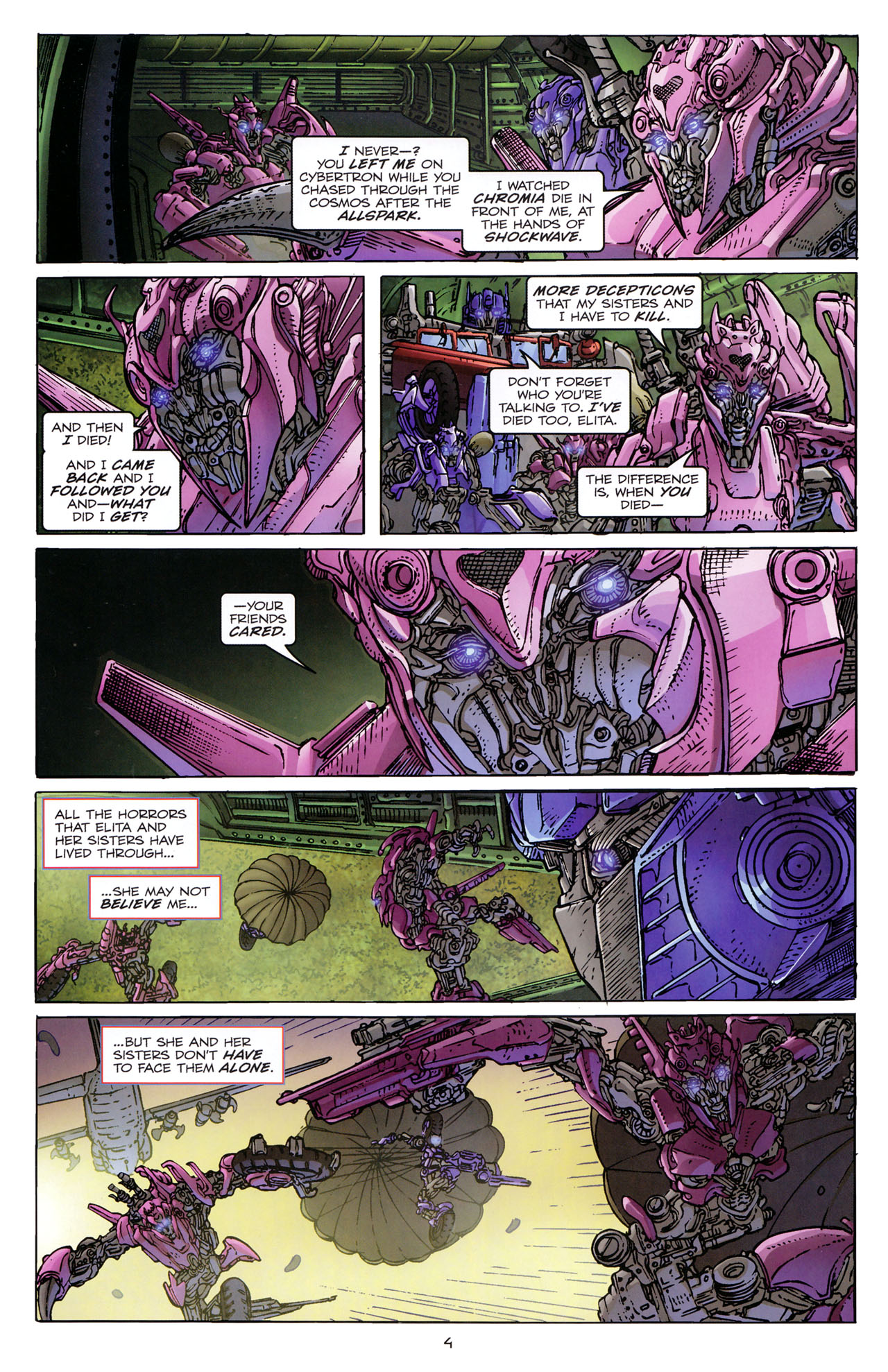 Read online Transformers: Dark of the Moon Rising Storm comic -  Issue #3 - 6