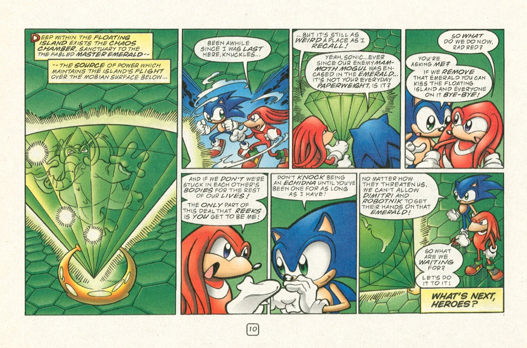 Read online Sonic Super Special comic -  Issue #12 - Sonic and Knuckles visa versa - 13
