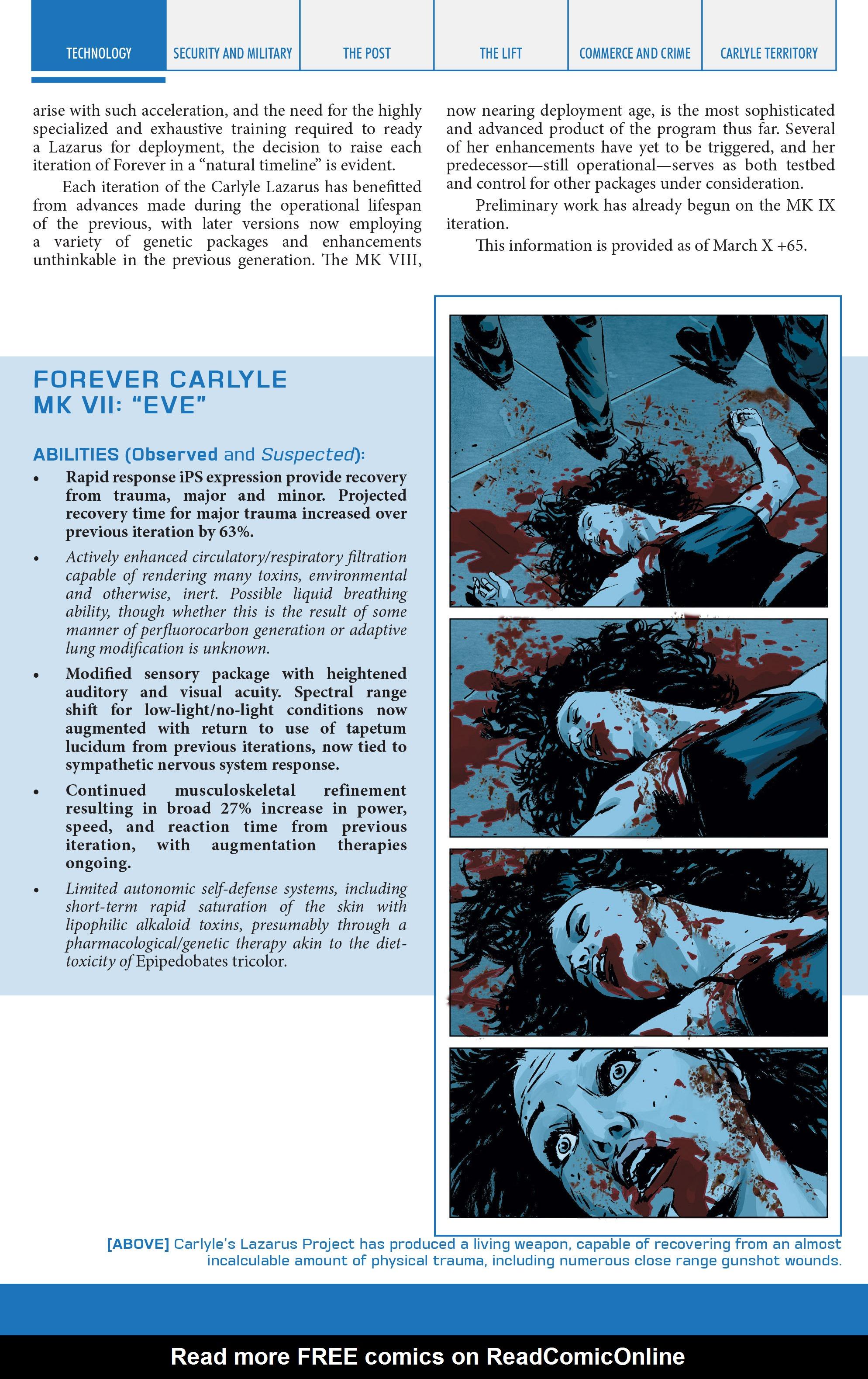 Read online Lazarus Sourcebook comic -  Issue # Vol. 1 - 31