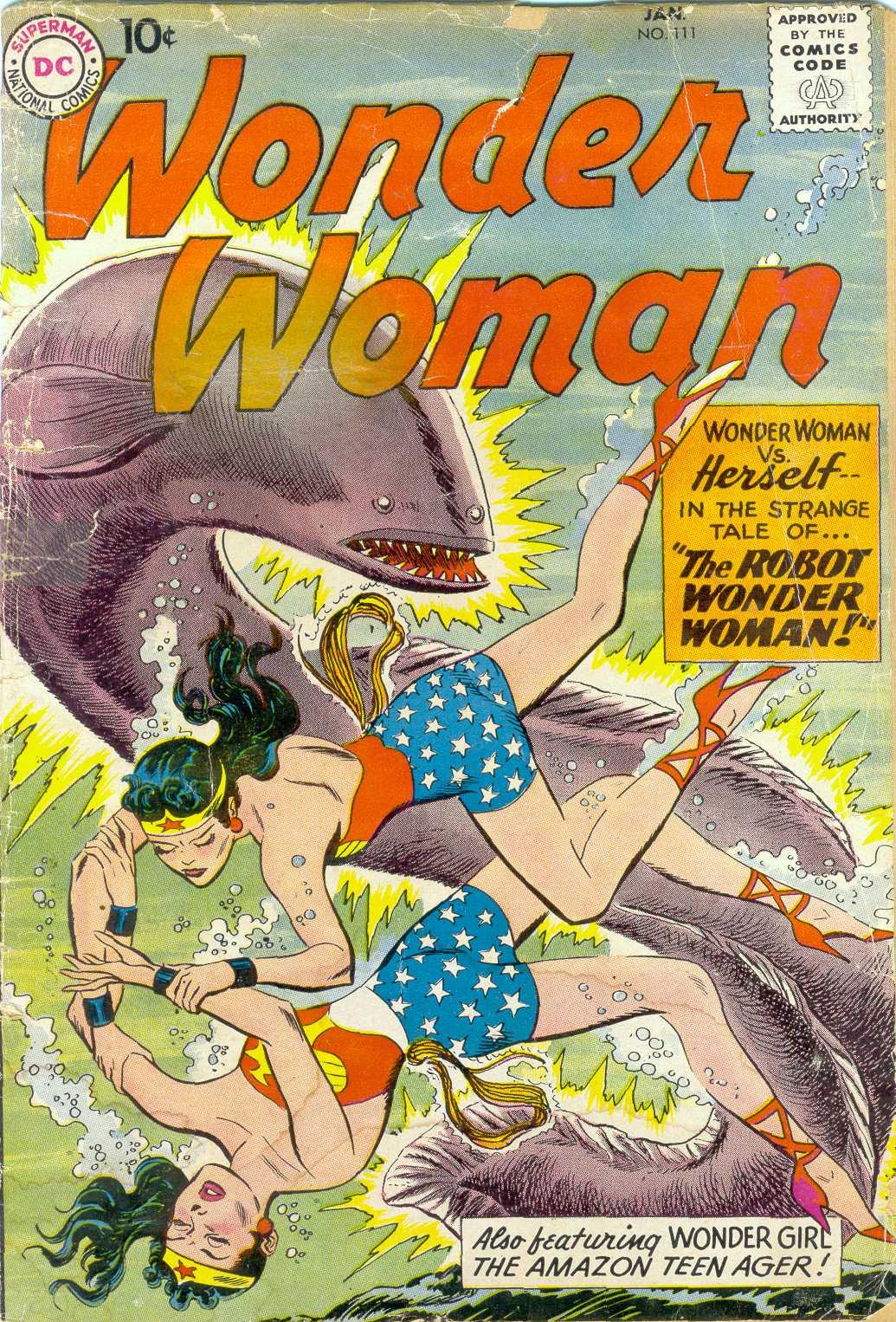Read online Wonder Woman (1942) comic -  Issue #111 - 1