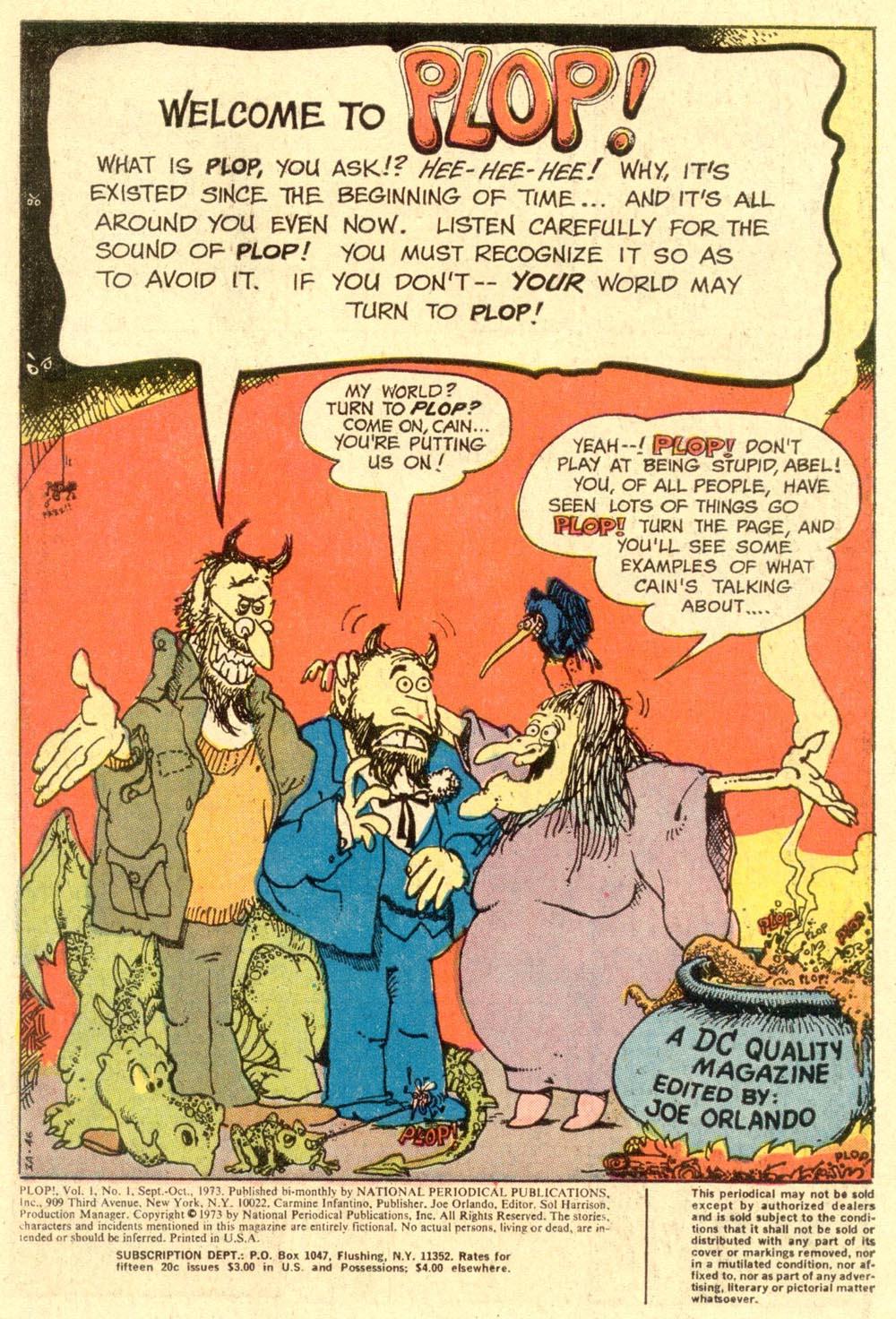 Read online Plop! comic -  Issue #1 - 3