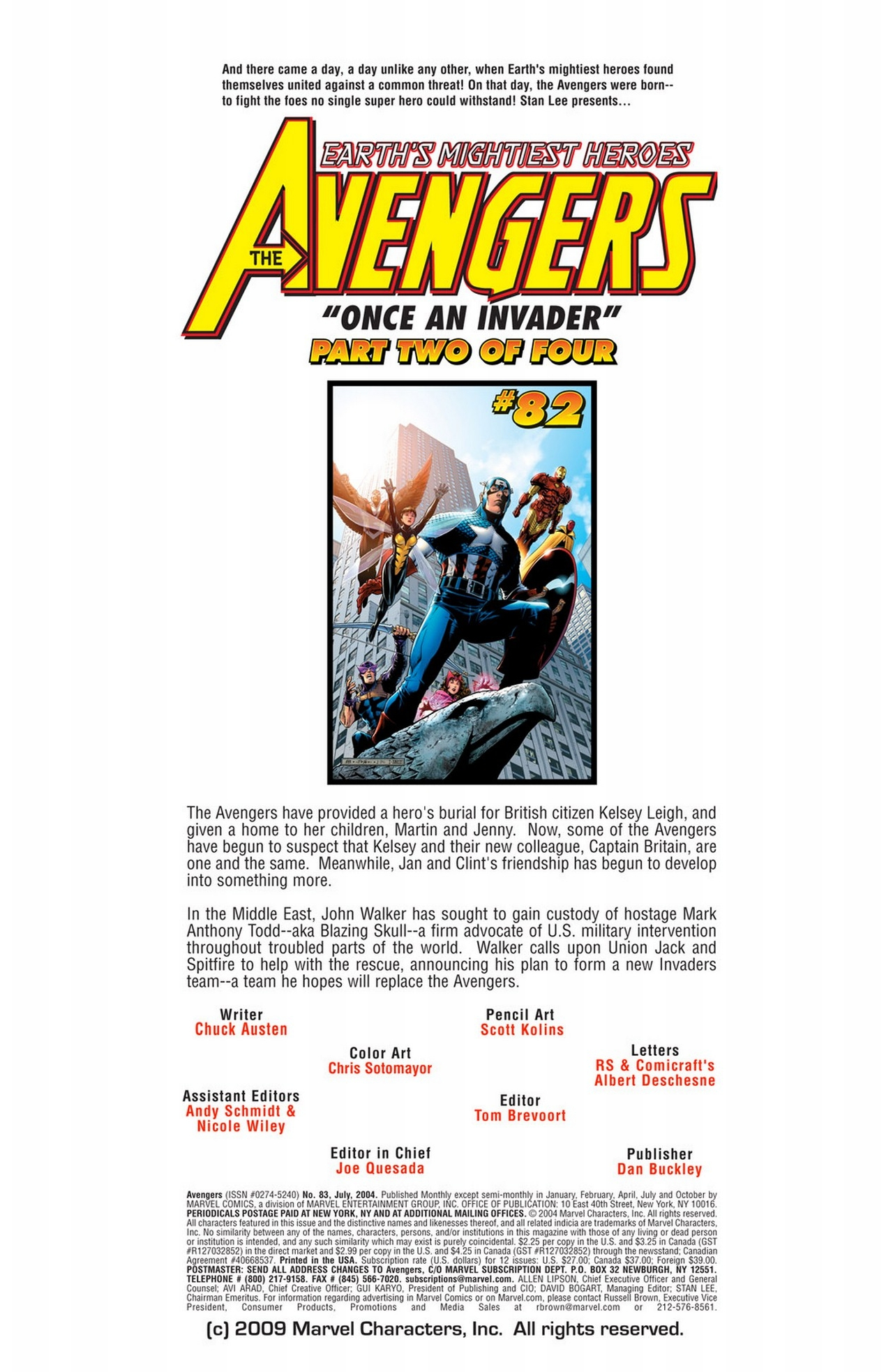 Read online Avengers (1998) comic -  Issue #83 - 2