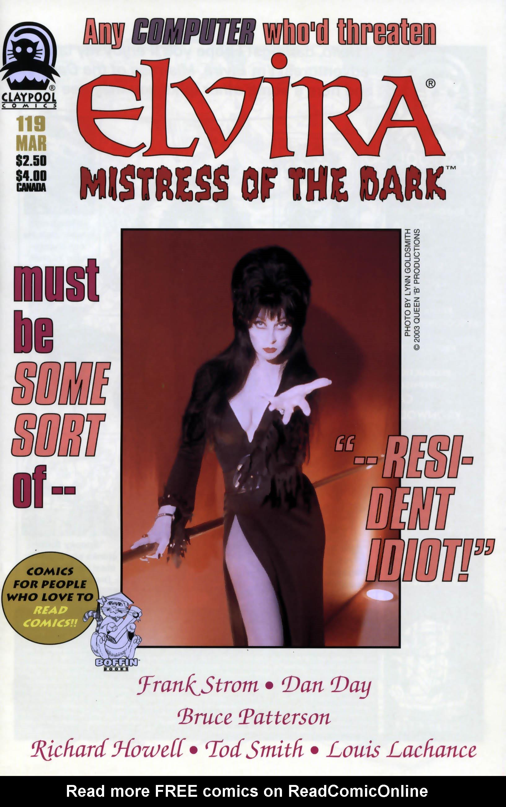 Read online Elvira, Mistress of the Dark comic -  Issue #119 - 1