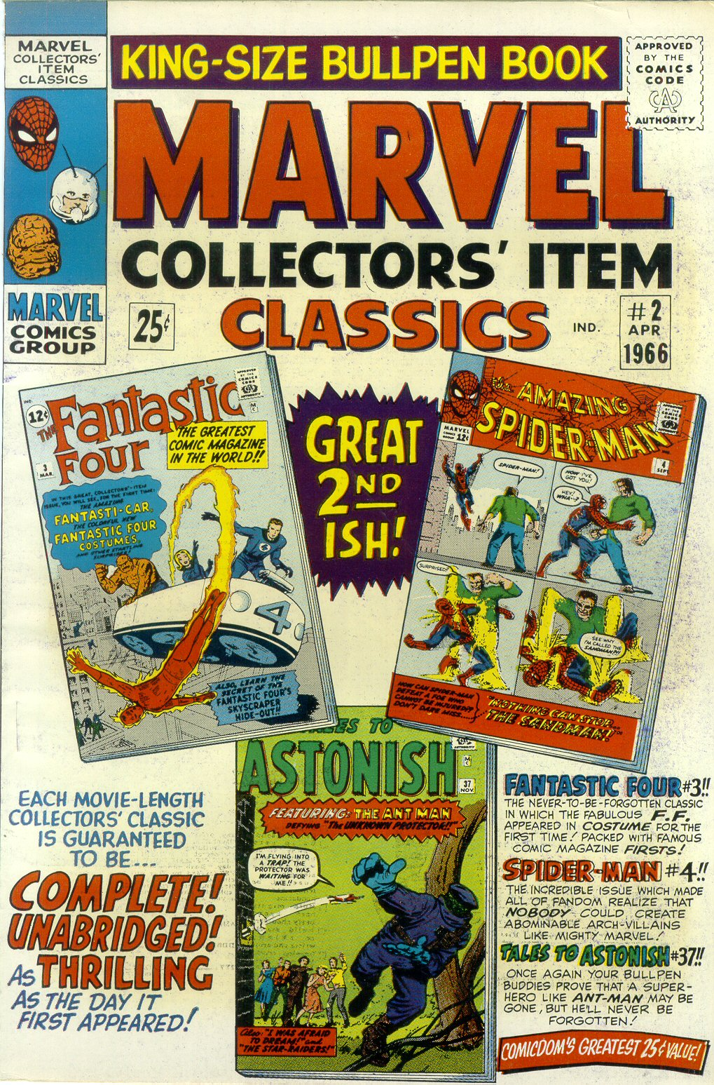Marvel Collectors Item Classics 2 Page 1
