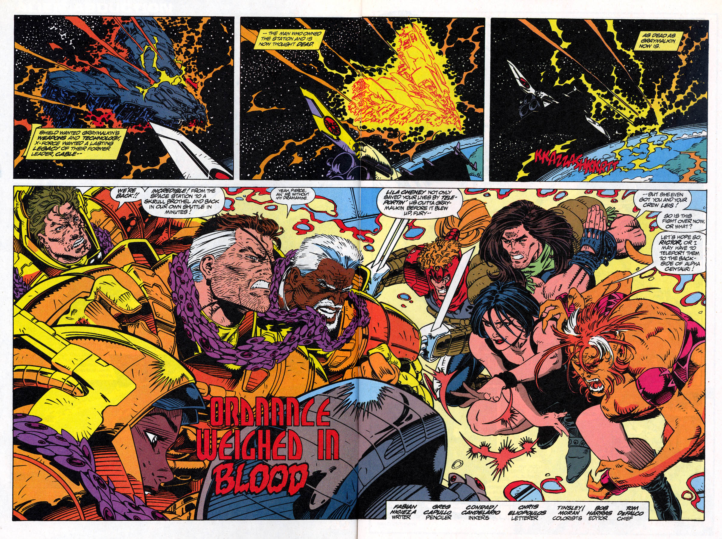 Read online X-Force (1991) comic -  Issue #22 - 4