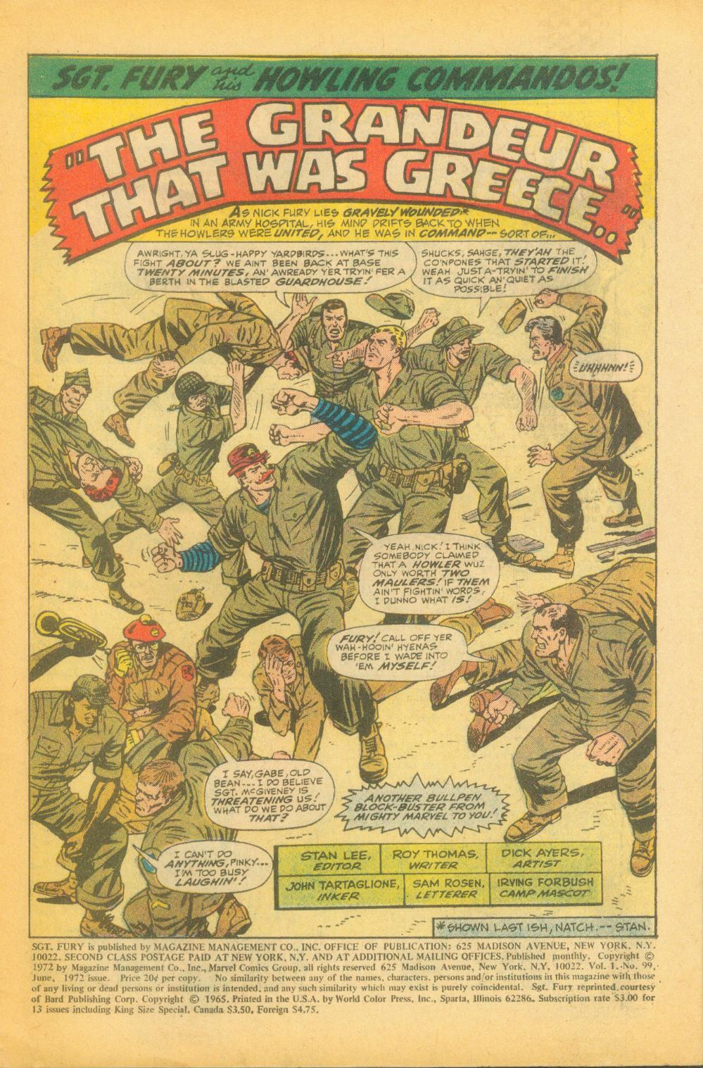Read online Sgt. Fury comic -  Issue #99 - 3