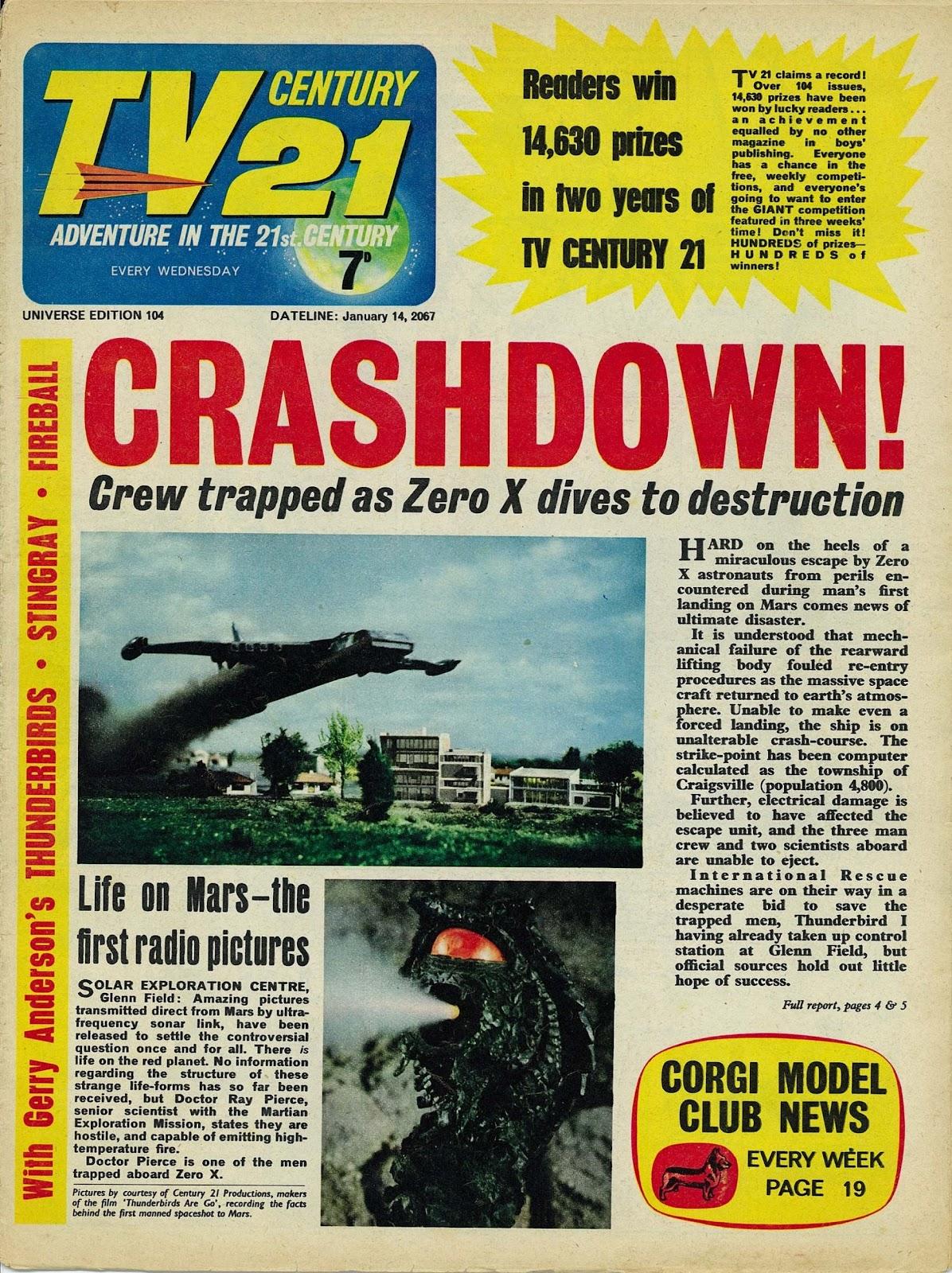 TV Century 21 (TV 21) issue 104 - Page 1