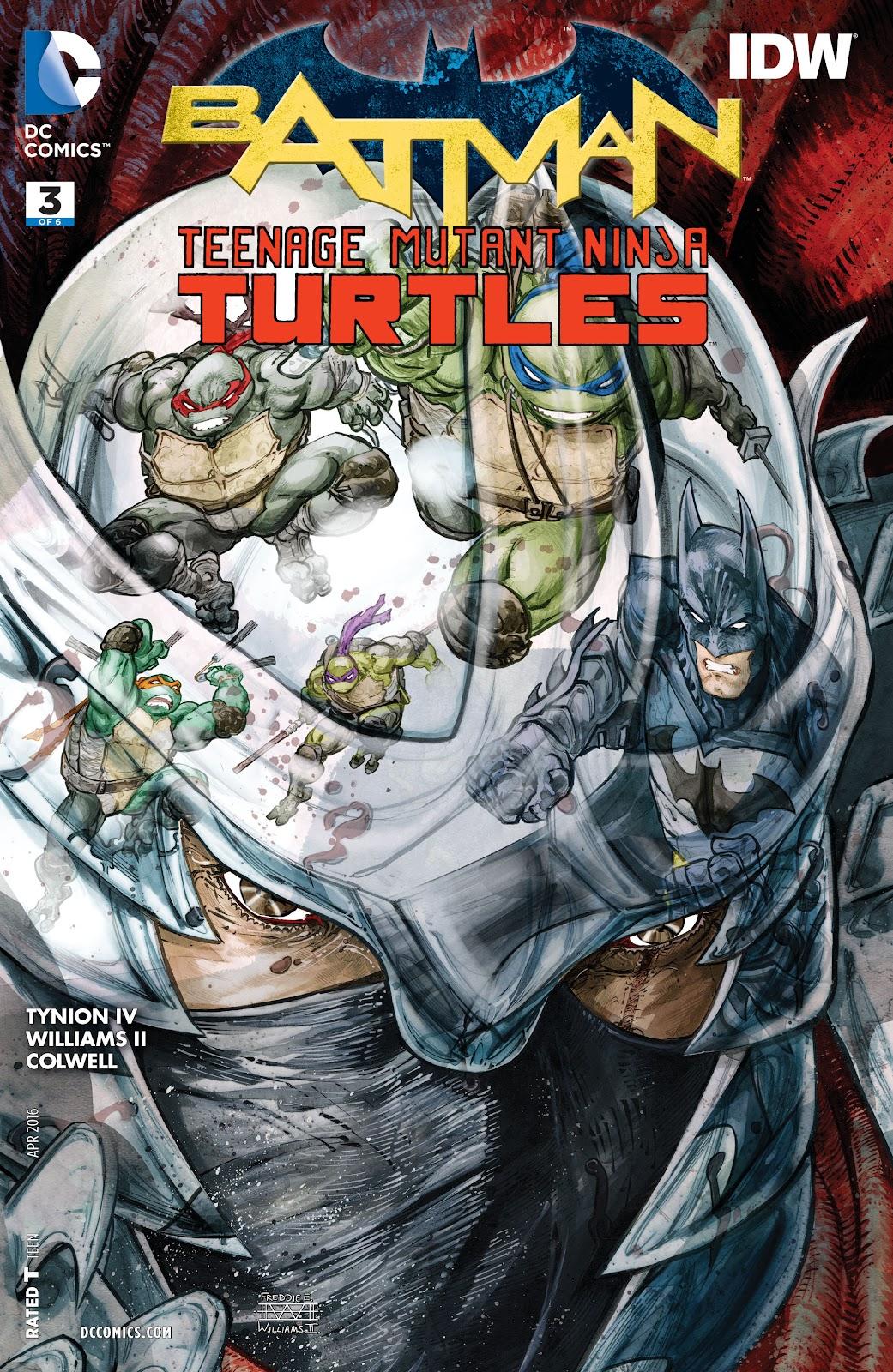 Batman/Teenage Mutant Ninja Turtles 3 Page 1