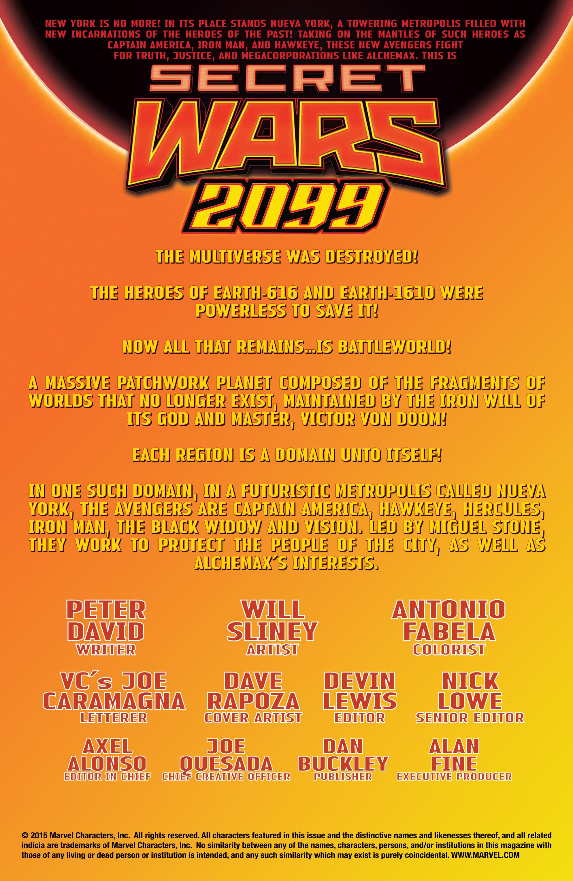 Read online Secret Wars 2099 comic -  Issue #2 - 2