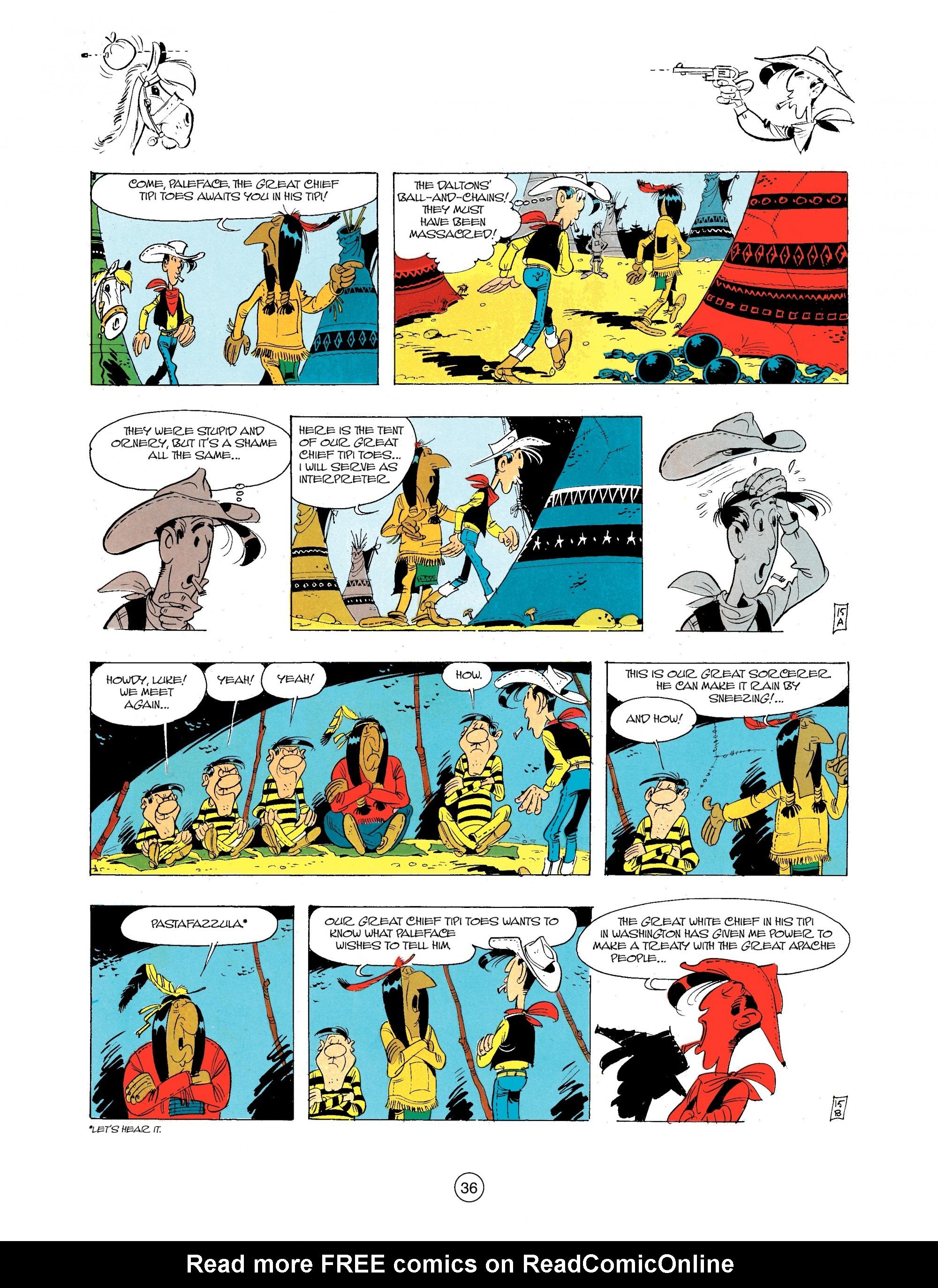 Read online A Lucky Luke Adventure comic -  Issue #34 - 36