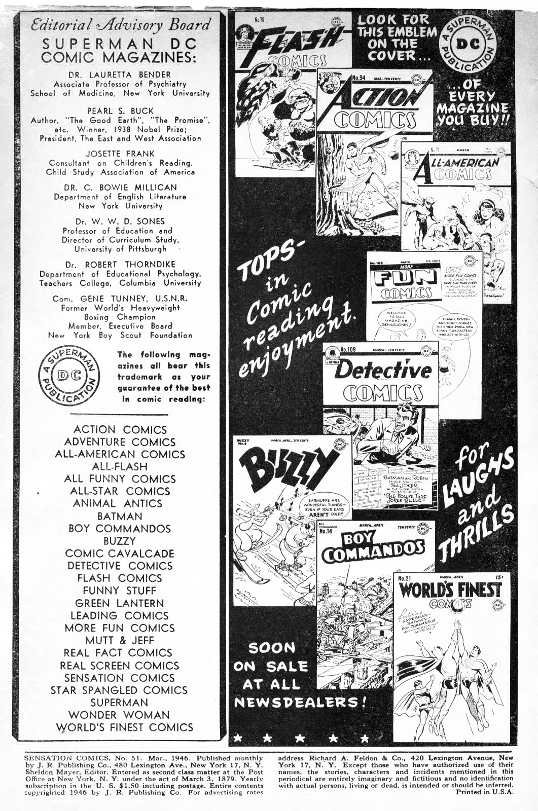 Read online Sensation (Mystery) Comics comic -  Issue #51 - 2