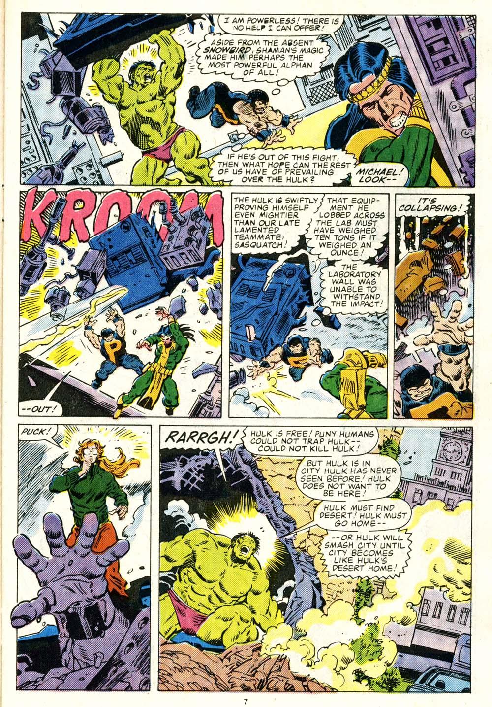 Read online Alpha Flight (1983) comic -  Issue #29 - 7