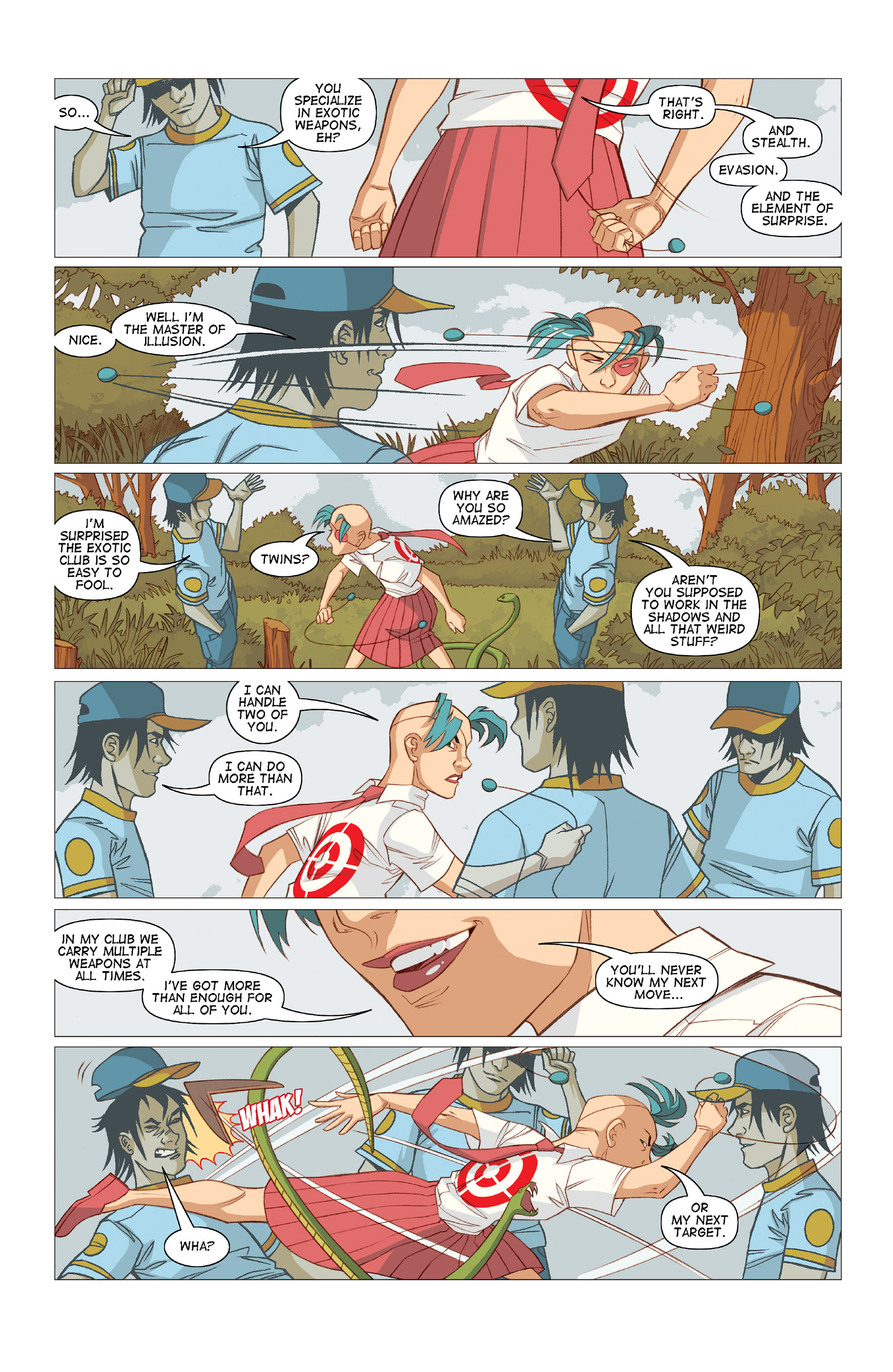 Read online Five Weapons comic -  Issue #10 - 18