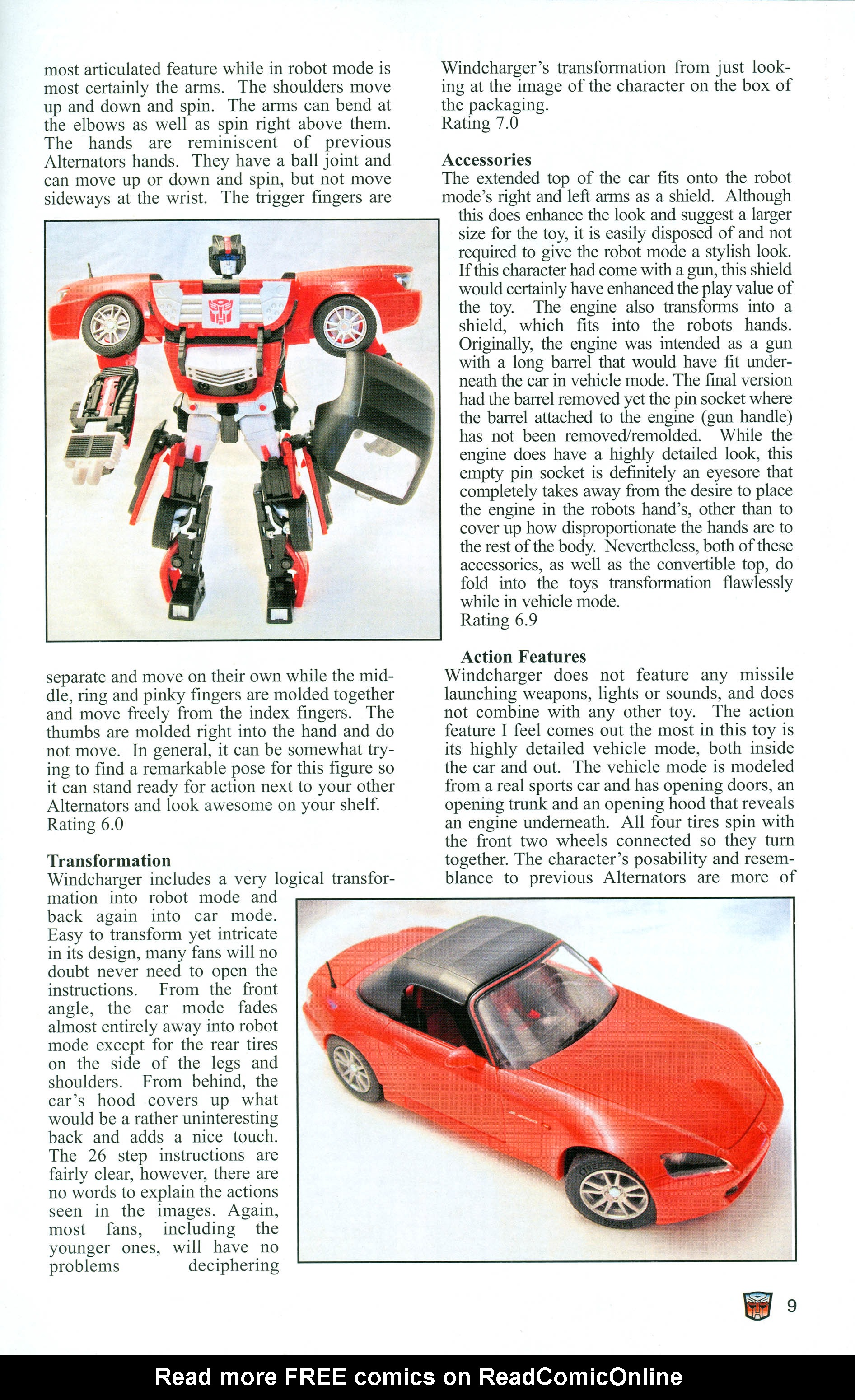 Read online Transformers: Collectors' Club comic -  Issue #1 - 9