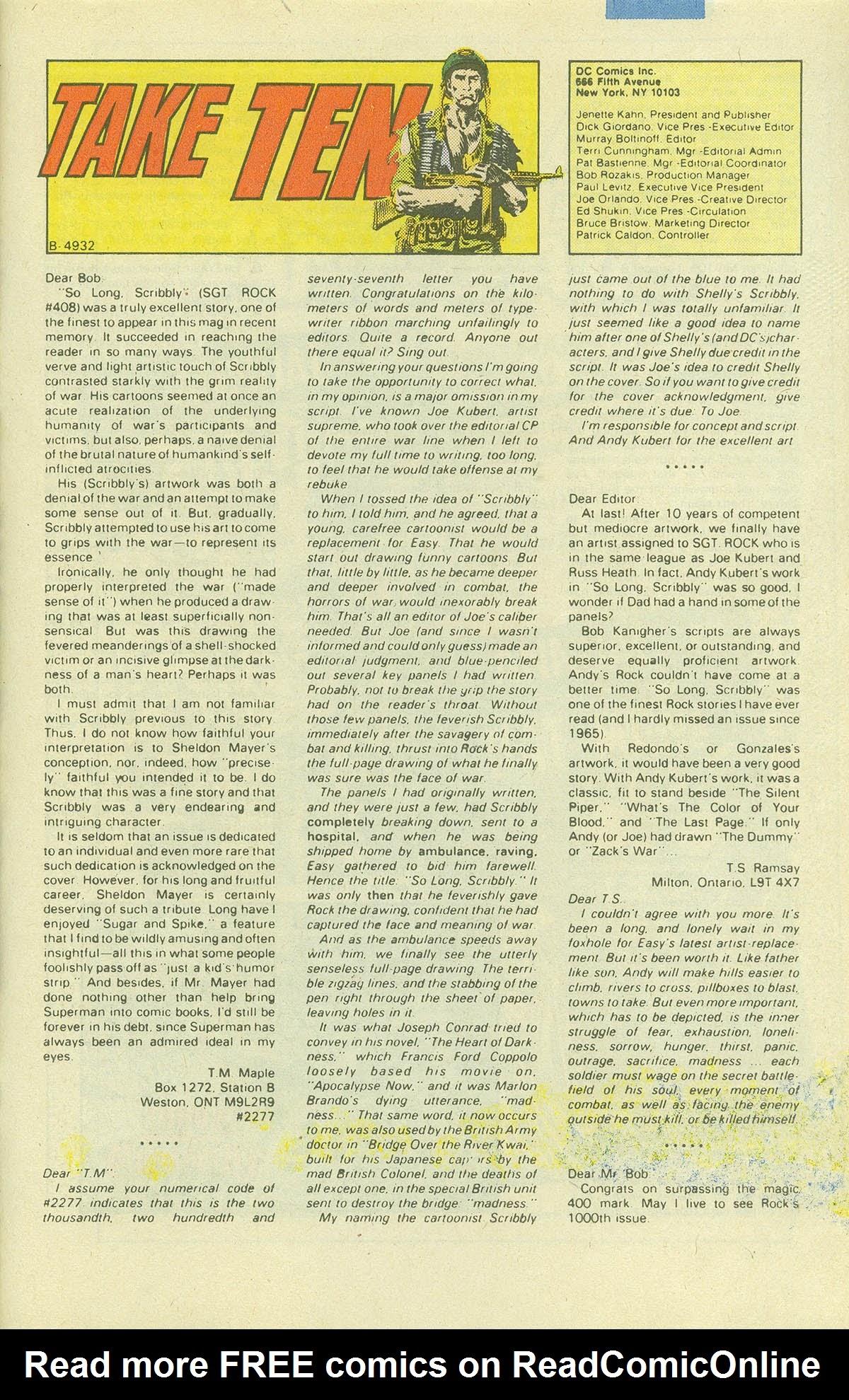 Read online Sgt. Rock comic -  Issue #411 - 32