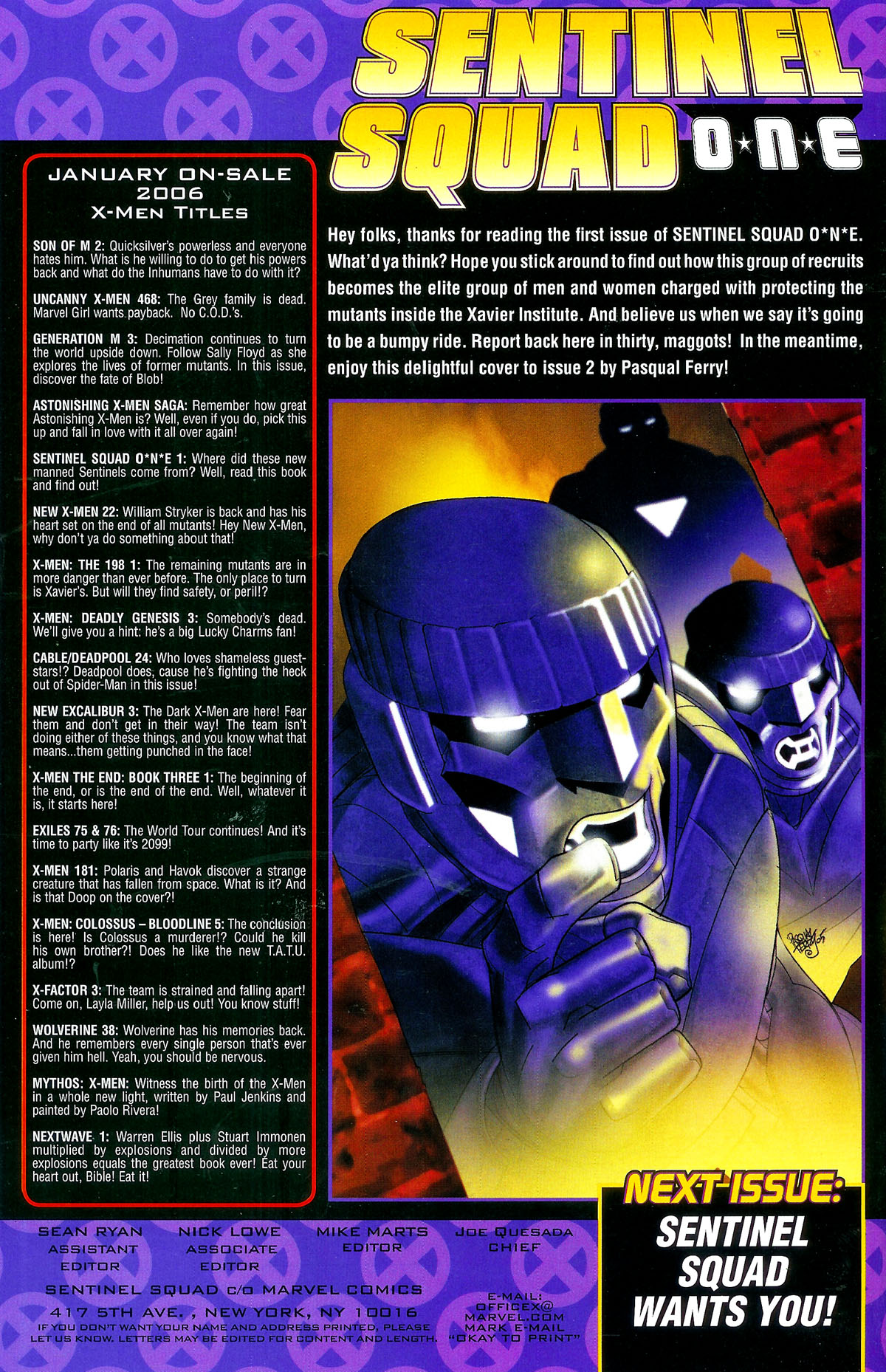 Read online Sentinel Squad O*N*E comic -  Issue #1 - 23