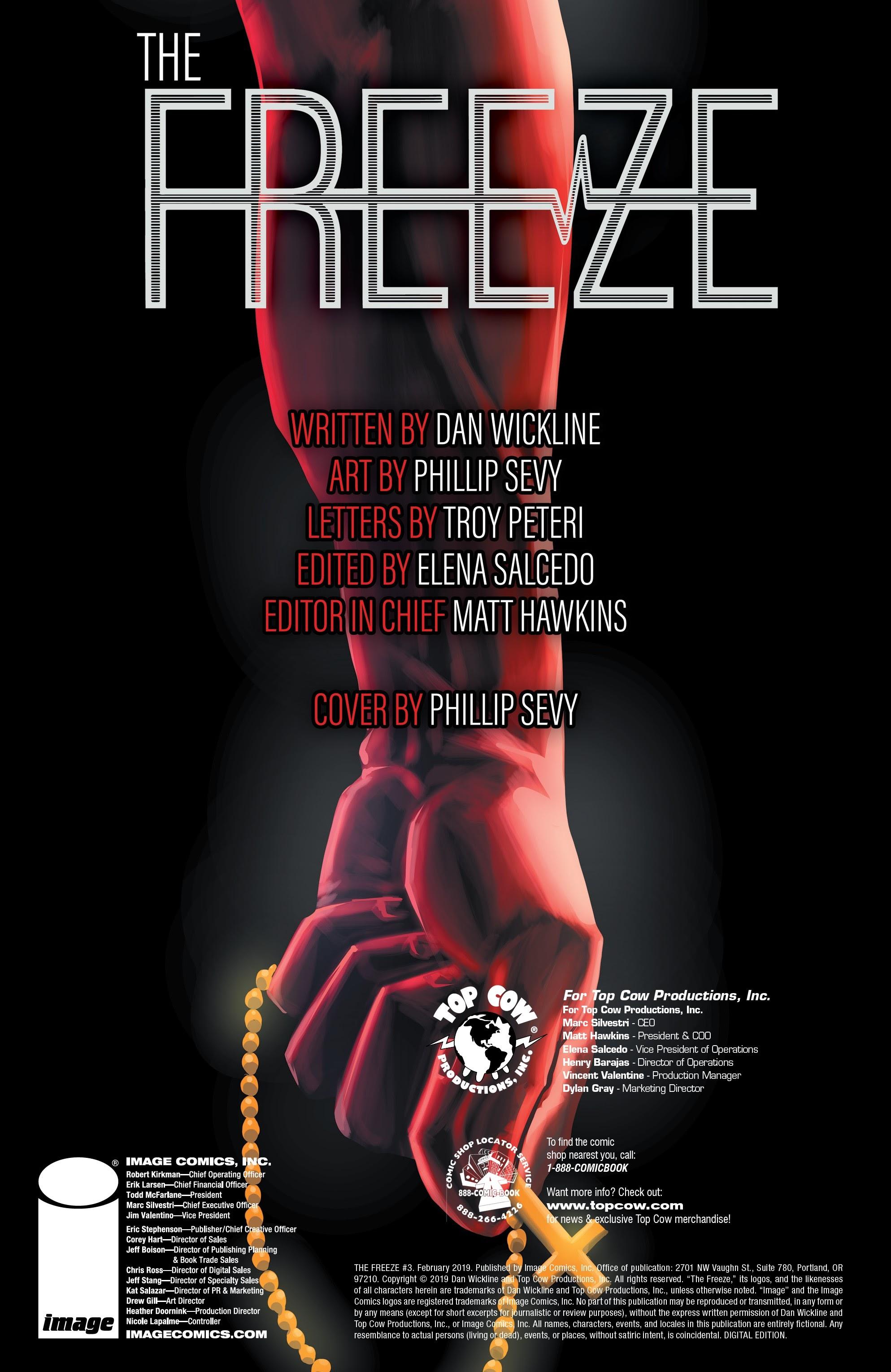 The Freeze #3 #3 - English 2