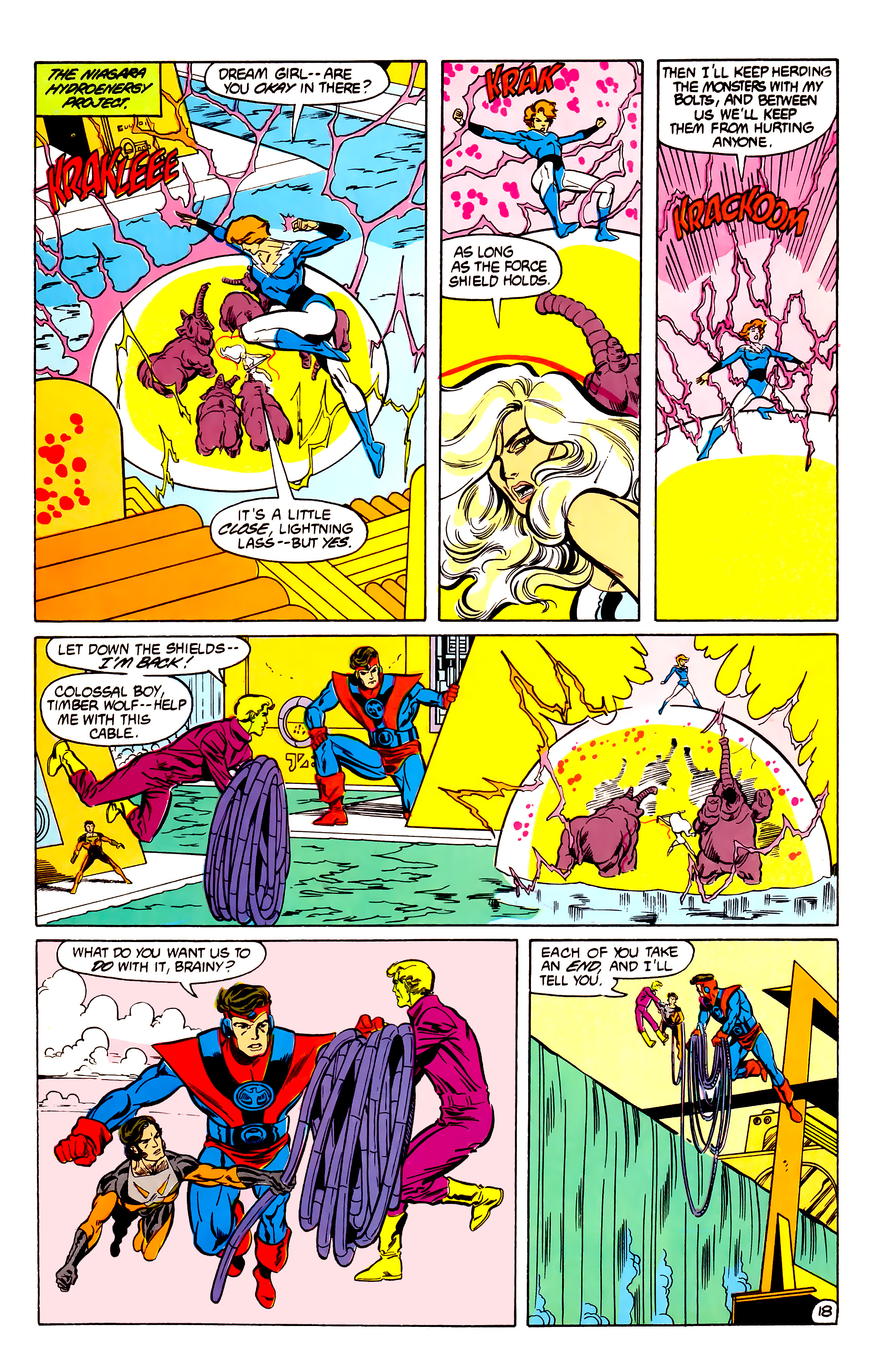 Legion of Super-Heroes (1984) 30 Page 18