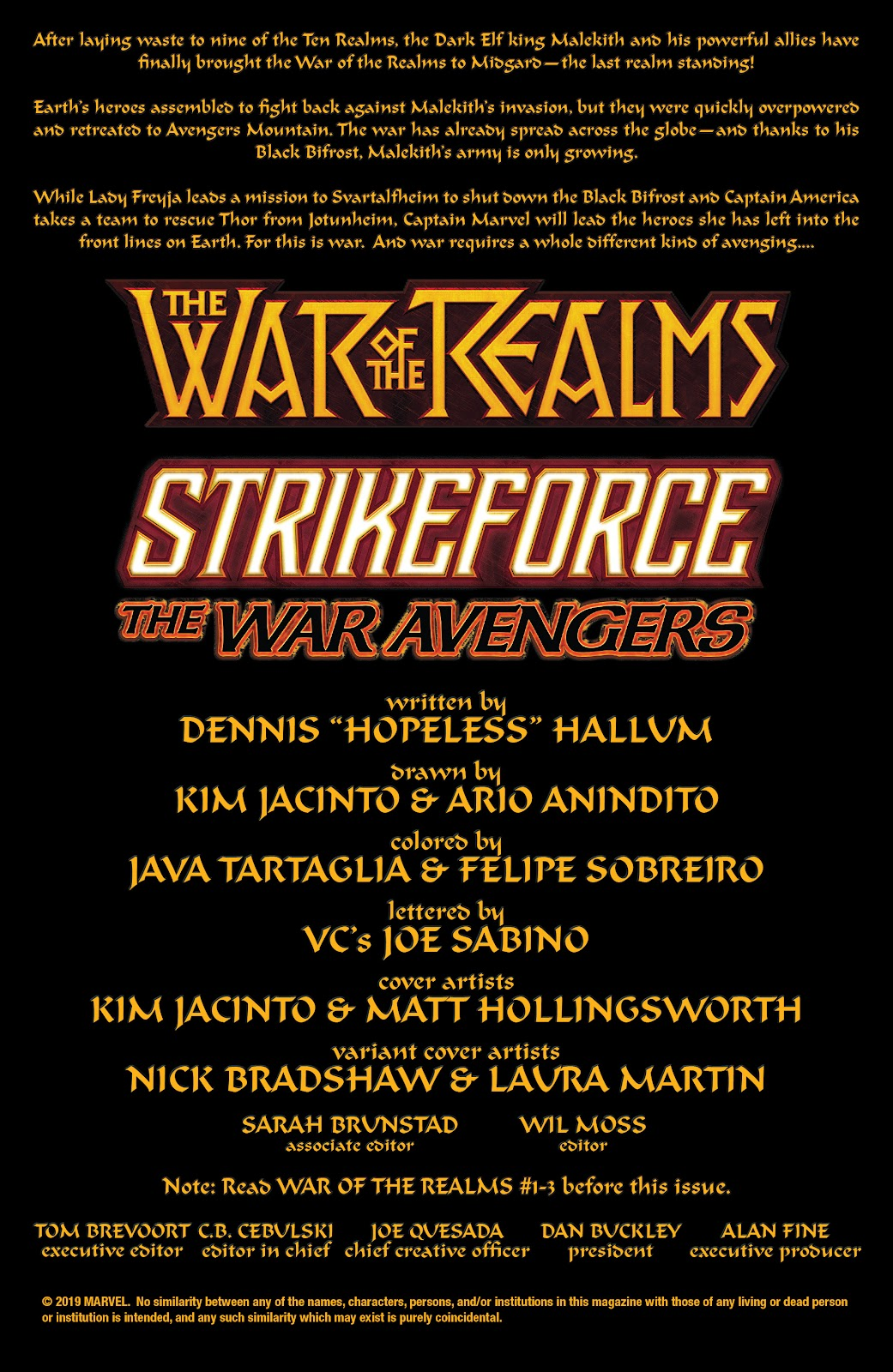 Read online War of the Realms Strikeforce: The War Avengers comic -  Issue # Full - 2
