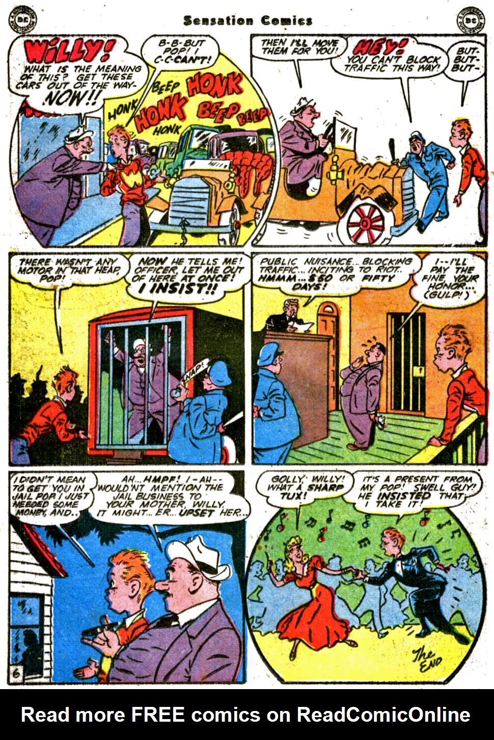 Read online Sensation (Mystery) Comics comic -  Issue #64 - 28