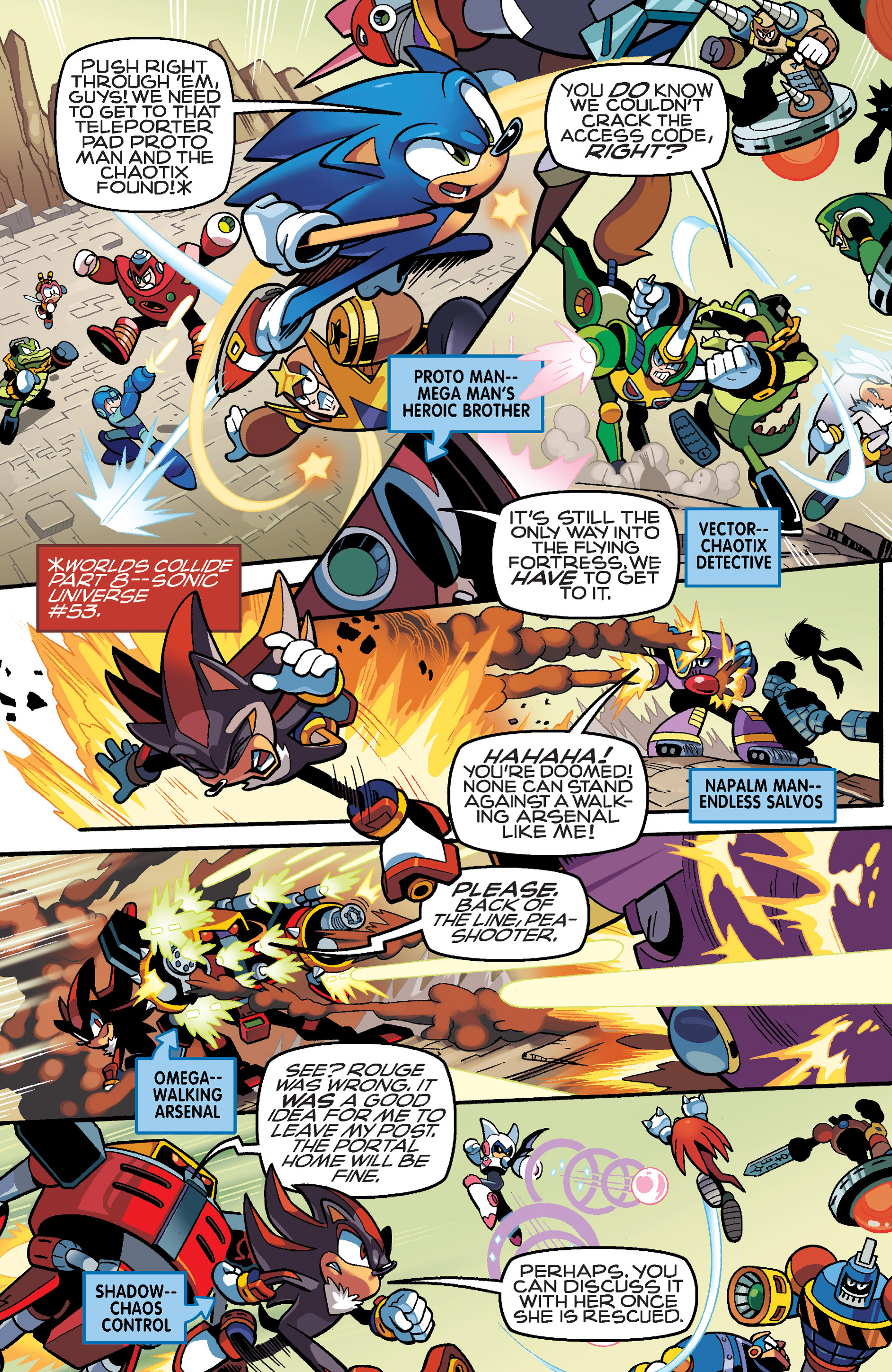 Read online Sonic Mega Man Worlds Collide comic -  Issue # Vol 3 - 13