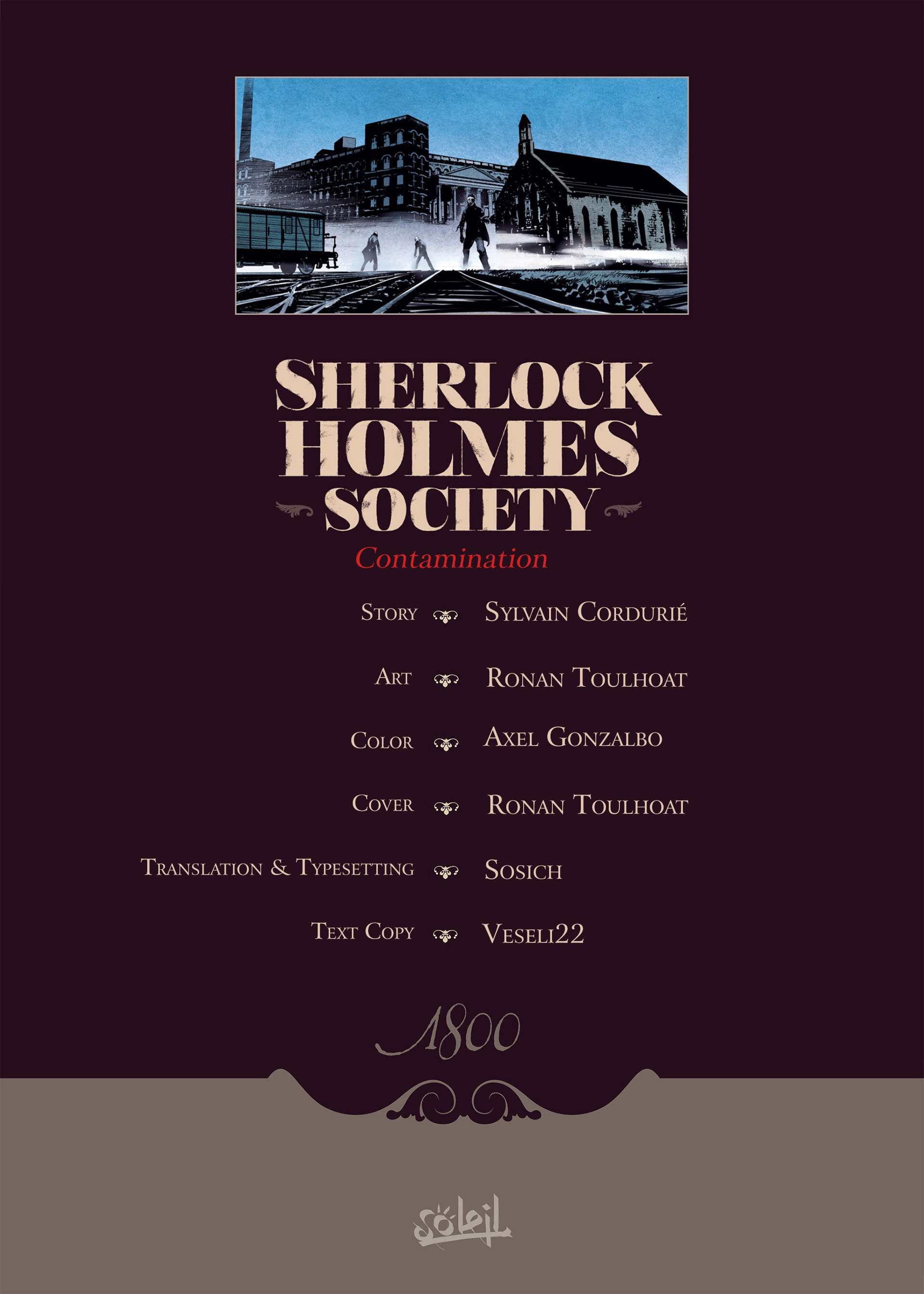 Read online Sherlock Holmes Society Tome 4 : Contamination comic -  Issue # Full - 2