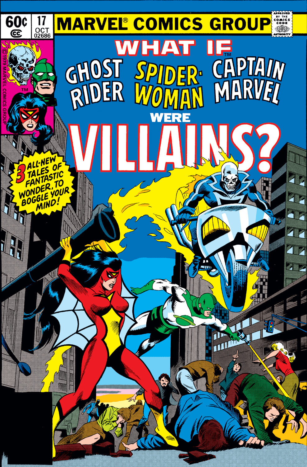 scans_daily | What If #17: Ghost Rider, Spider-Woman, & Captain Marvel were  villains