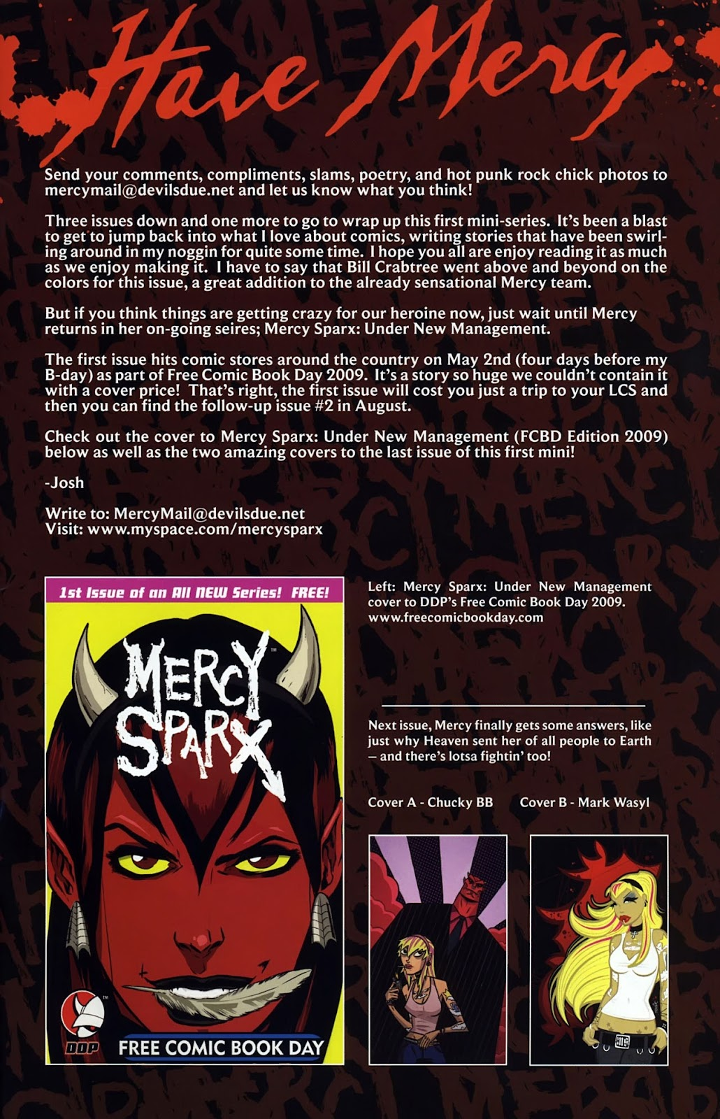 Read online Mercy Sparx (2008) comic -  Issue #3 - 25