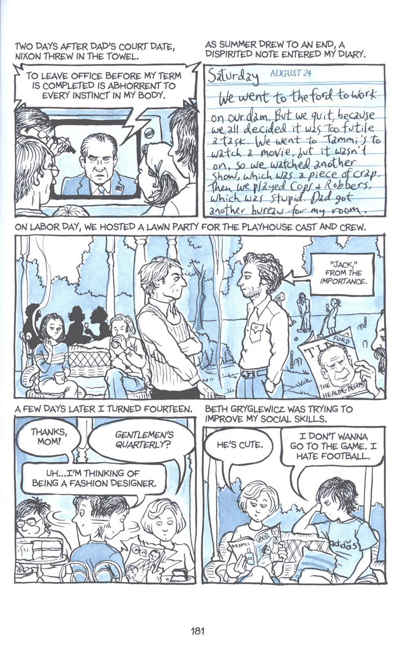 Read online Fun Home: A Family Tragicomic comic -  Issue # TPB - 187