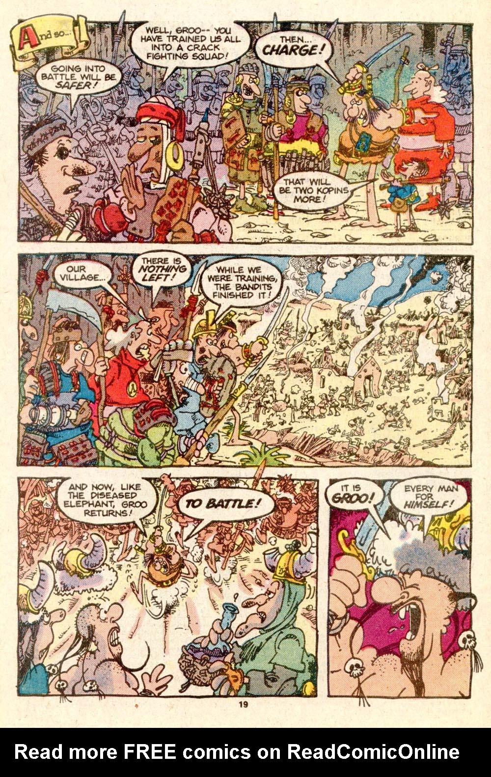 Read online Sergio Aragonés Groo the Wanderer comic -  Issue #25 - 19