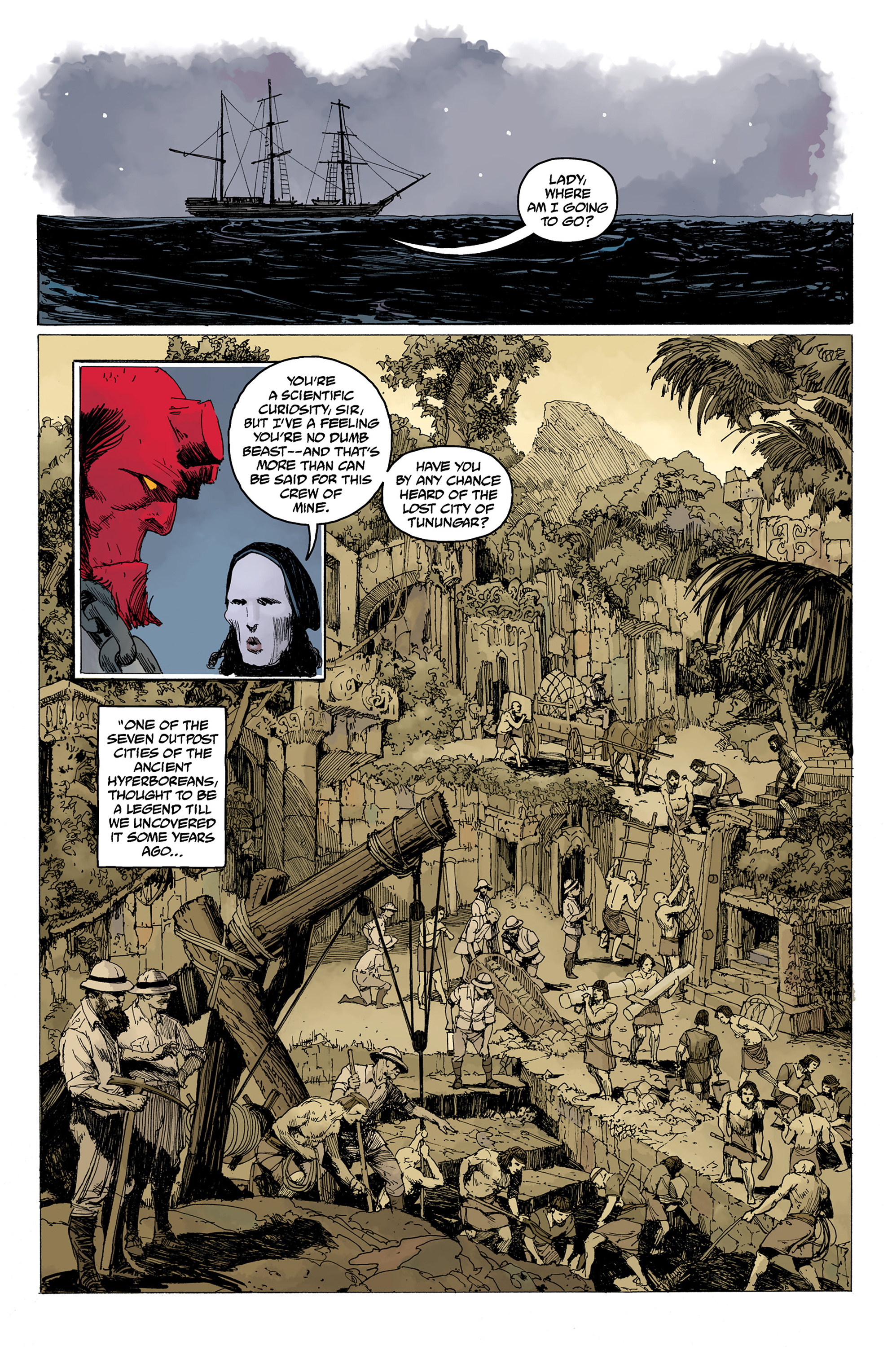 Read online Hellboy: Into the Silent Sea comic -  Issue # Full - 27