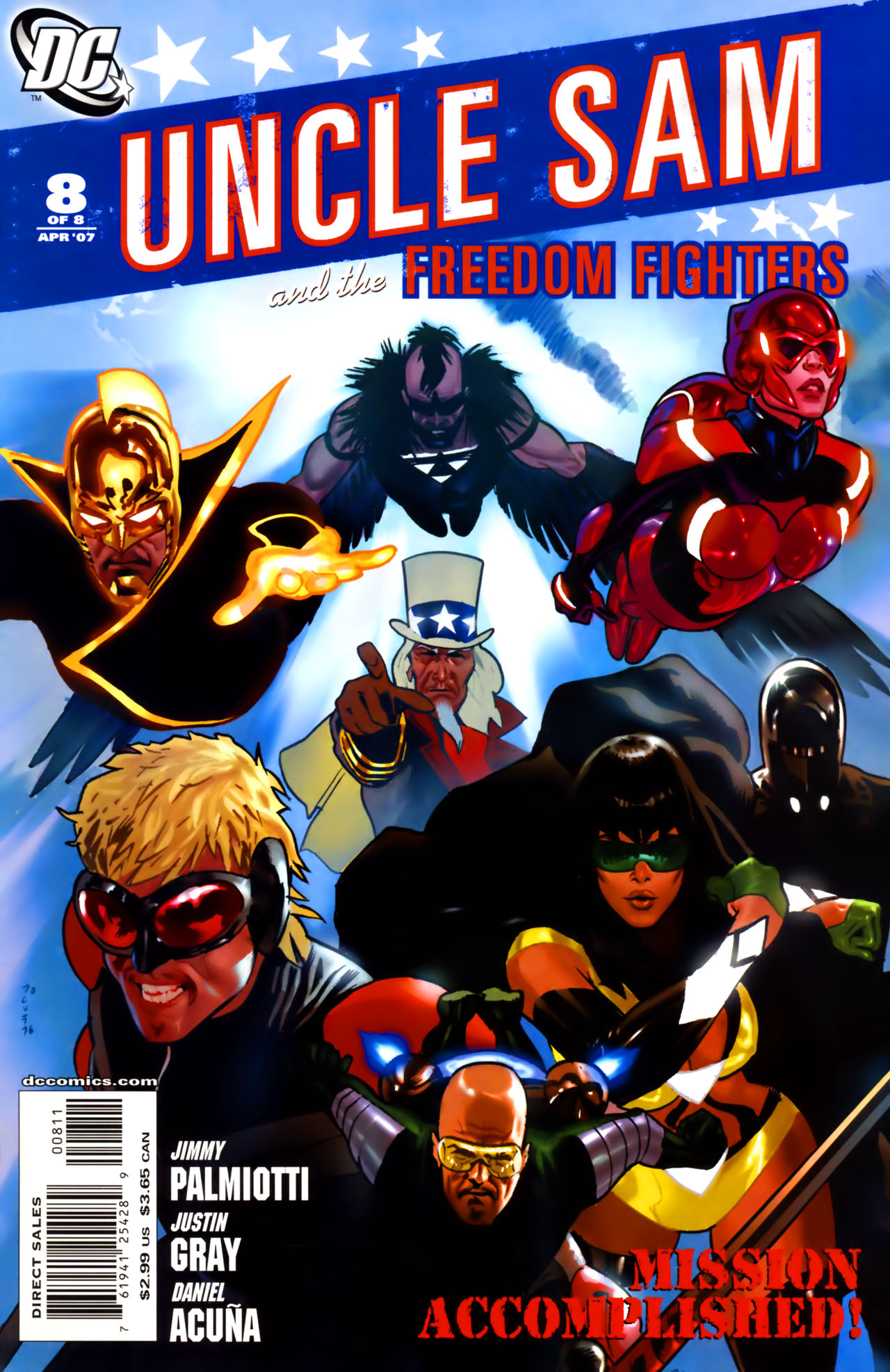 Read online Uncle Sam and the Freedom Fighters (2006) comic -  Issue #8 - 1