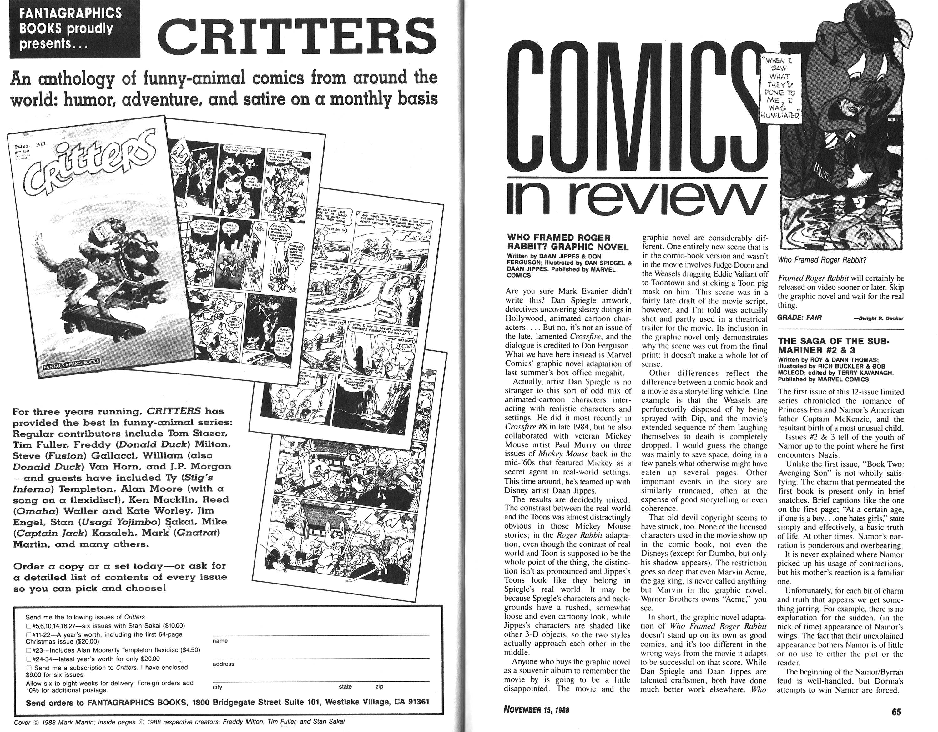 Read online Amazing Heroes comic -  Issue #153 - 33
