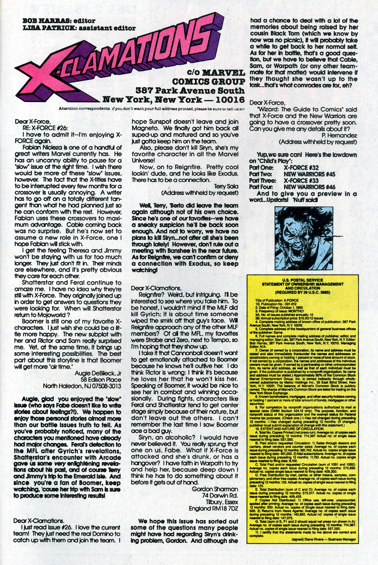 Read online X-Force (1991) comic -  Issue #31 - 32