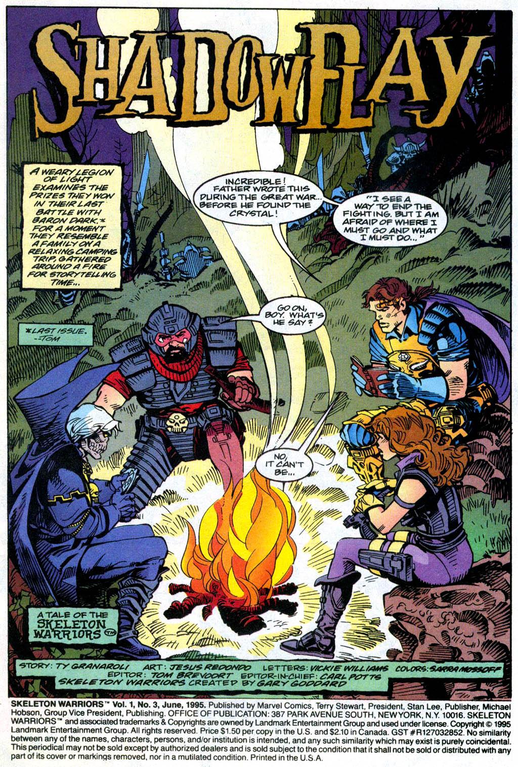 Skeleton Warriors Issue #3 #3 - English 2