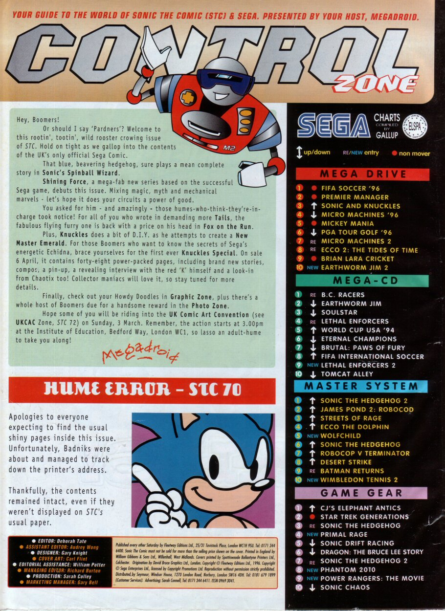 Read online Sonic the Comic comic -  Issue #73 - 2
