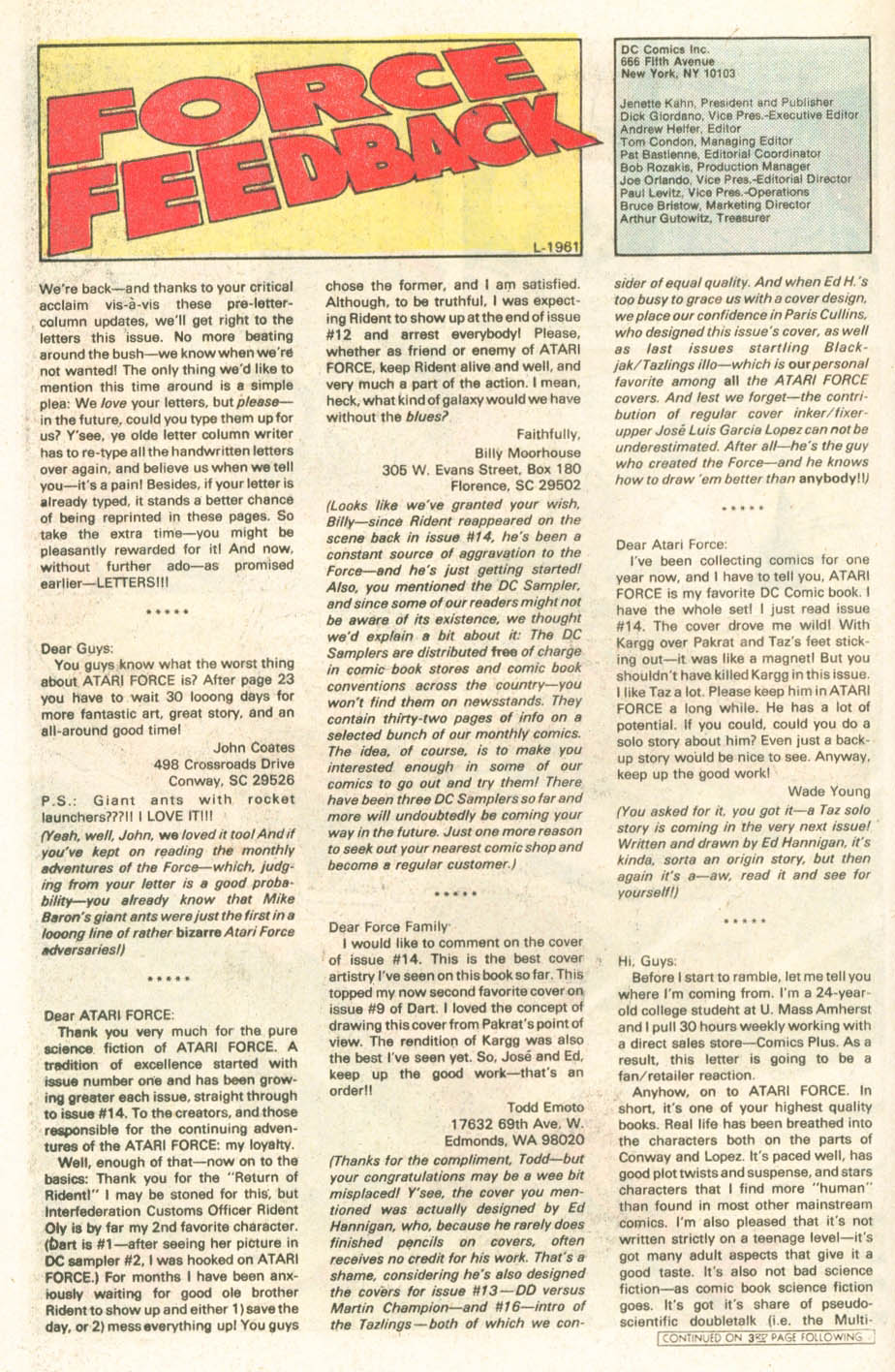 Read online Atari Force (1984) comic -  Issue #18 - 19