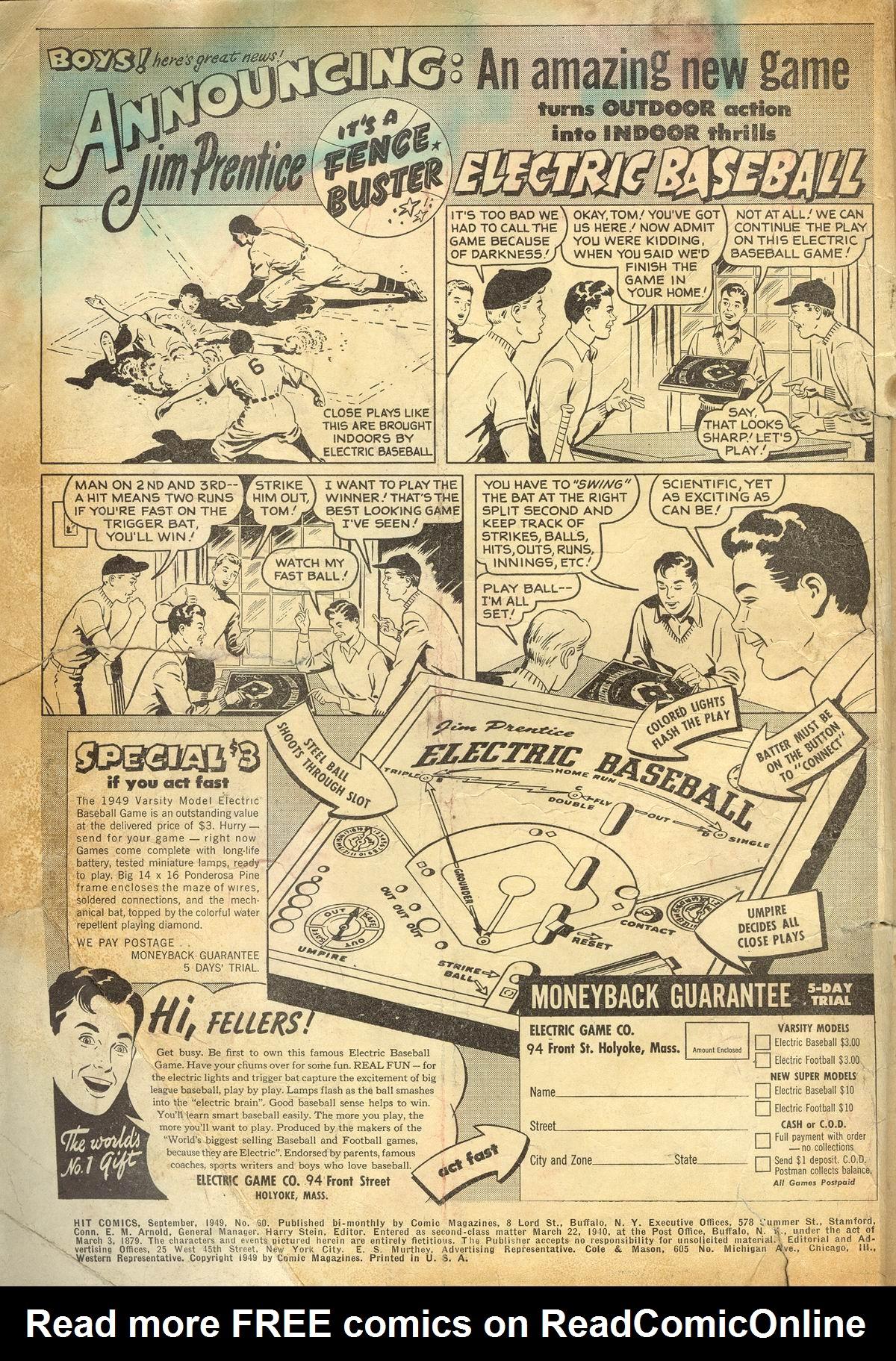 Read online Hit Comics comic -  Issue #60 - 2